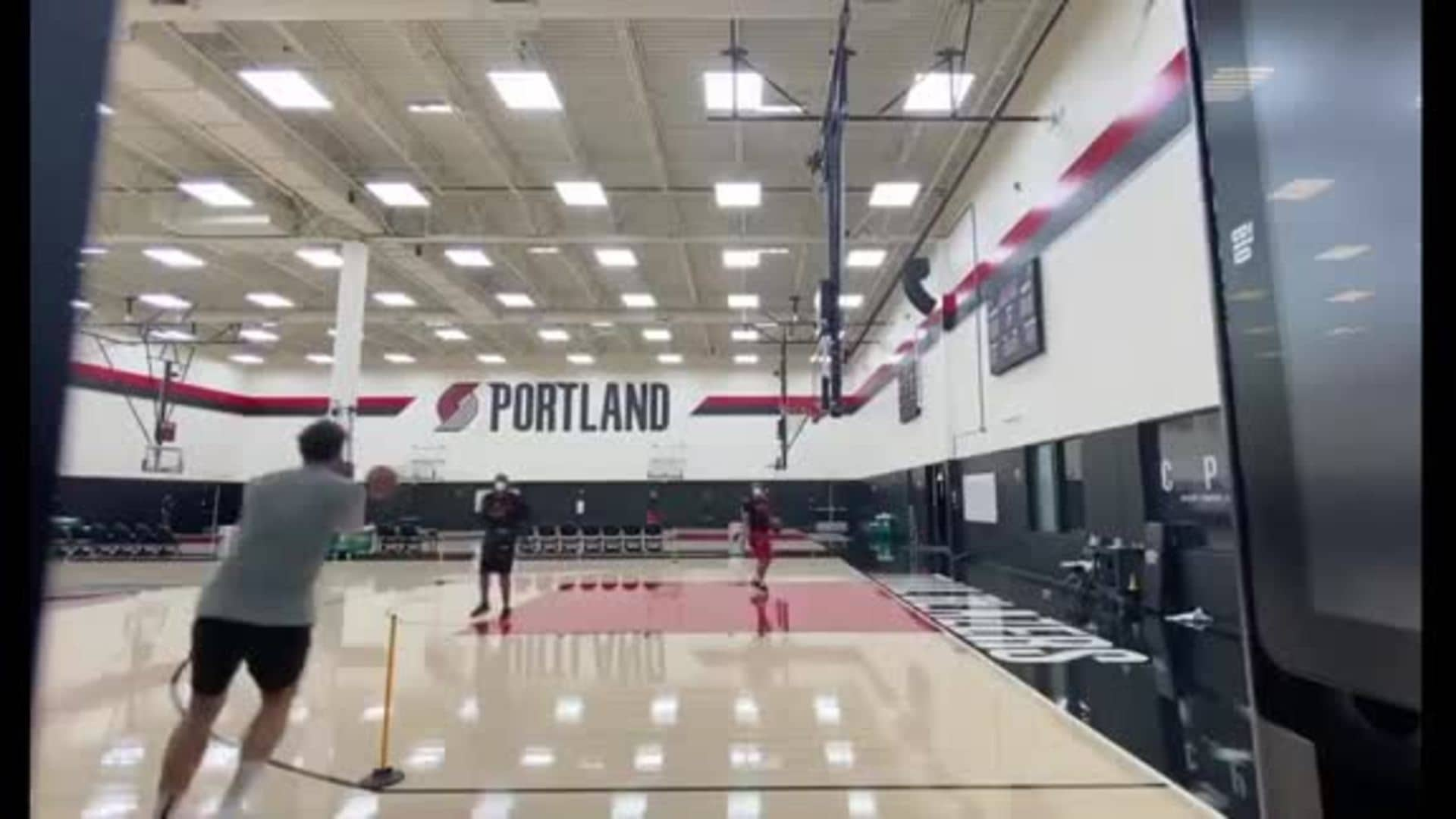 Jusuf Nurkic Ends Workout With Some Threes