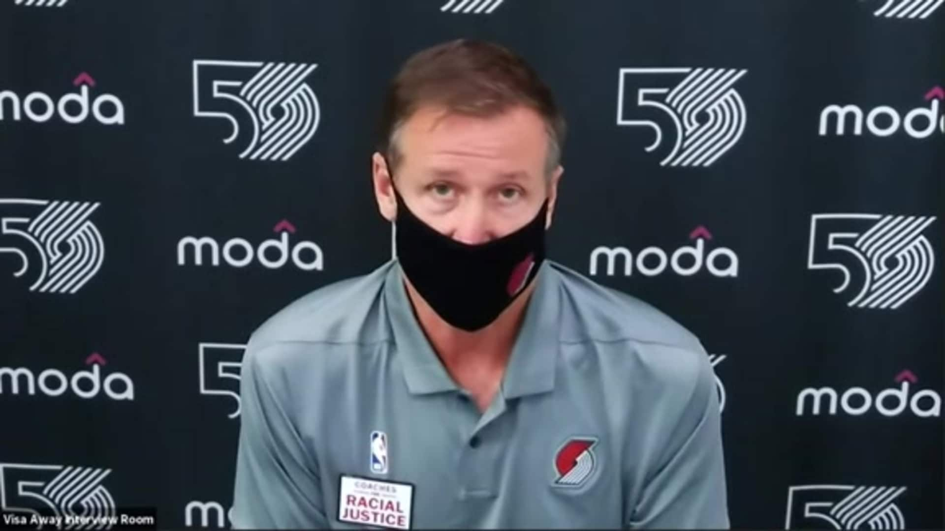 Terry Stotts after scrimmage vs. Toronto