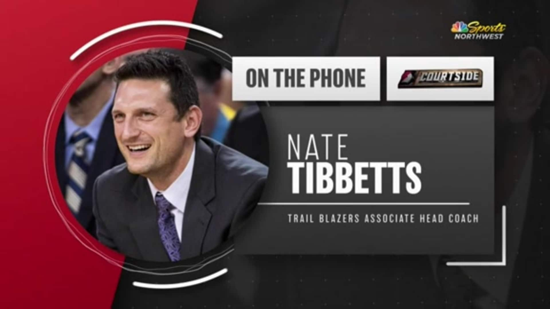 Assistant Coach Nate Tibbetts Joins Trail Blazers Courtside