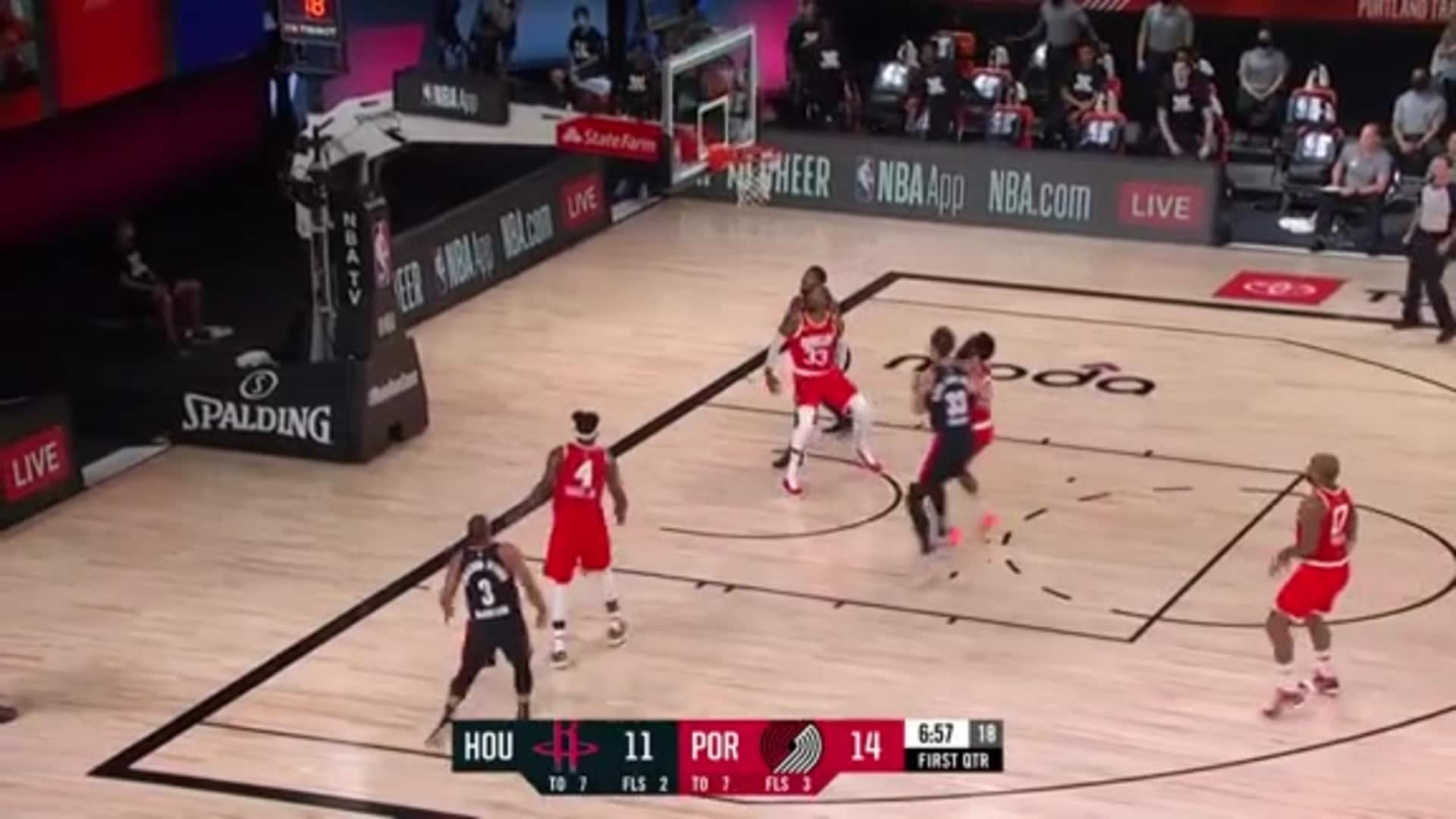 CJ gets two after the flashy dribble move