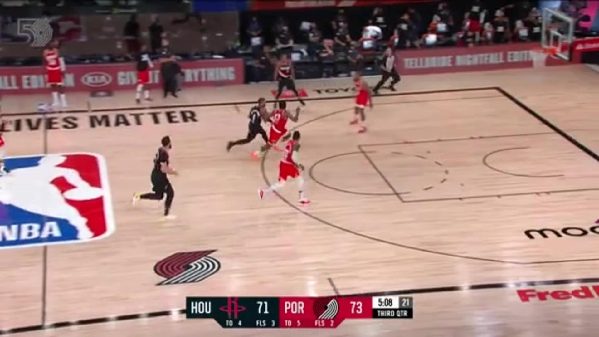 Lillard is heating up after this and-1