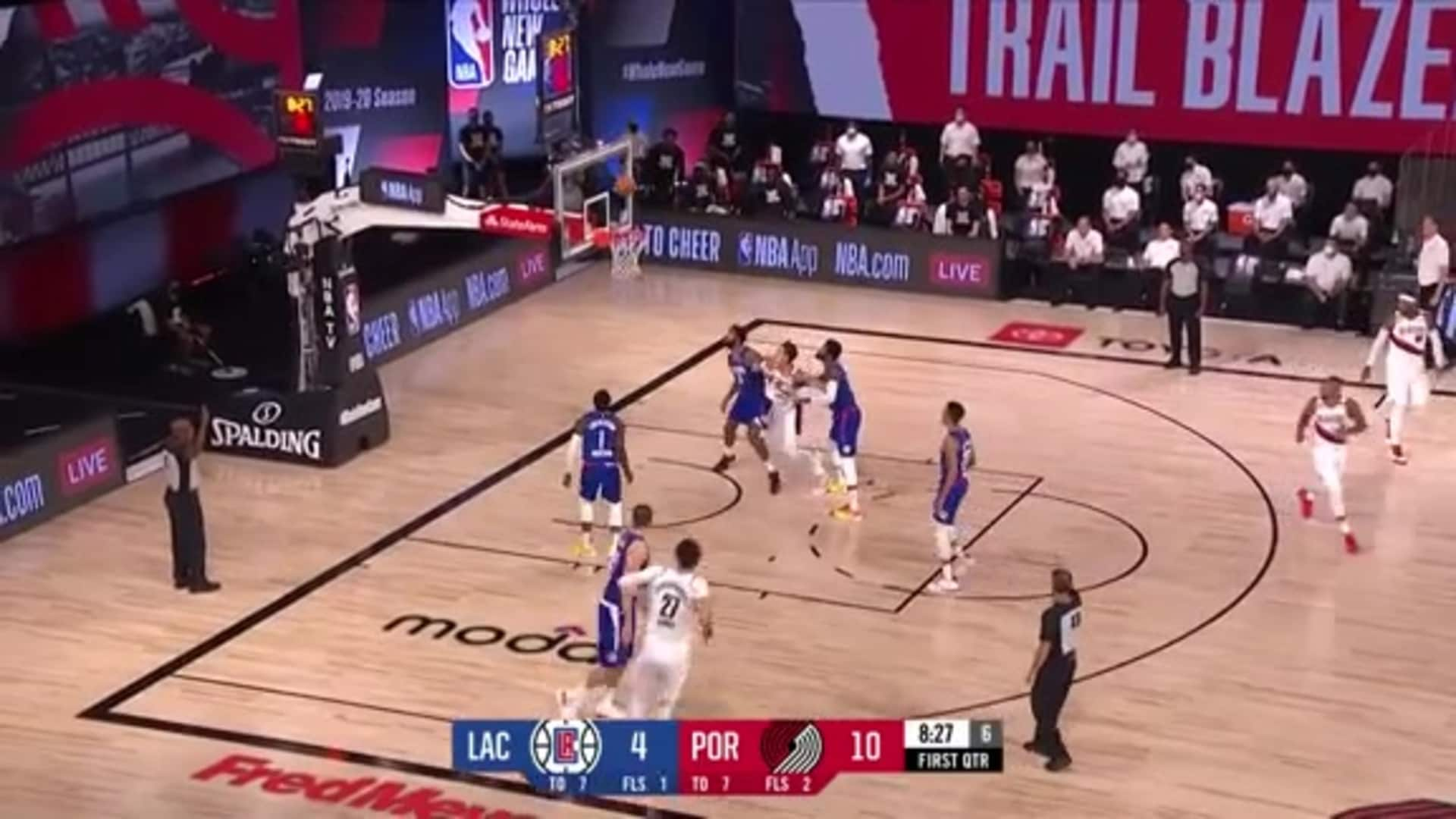 Nurkić and Collins connect from deep