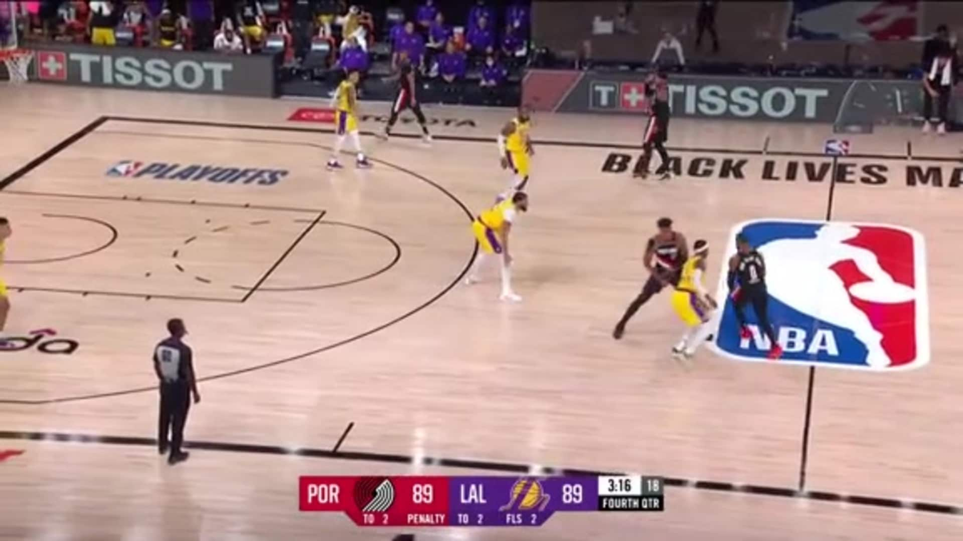 Portland 100, LA Lakers 93 | Game Highlights by McDelivery