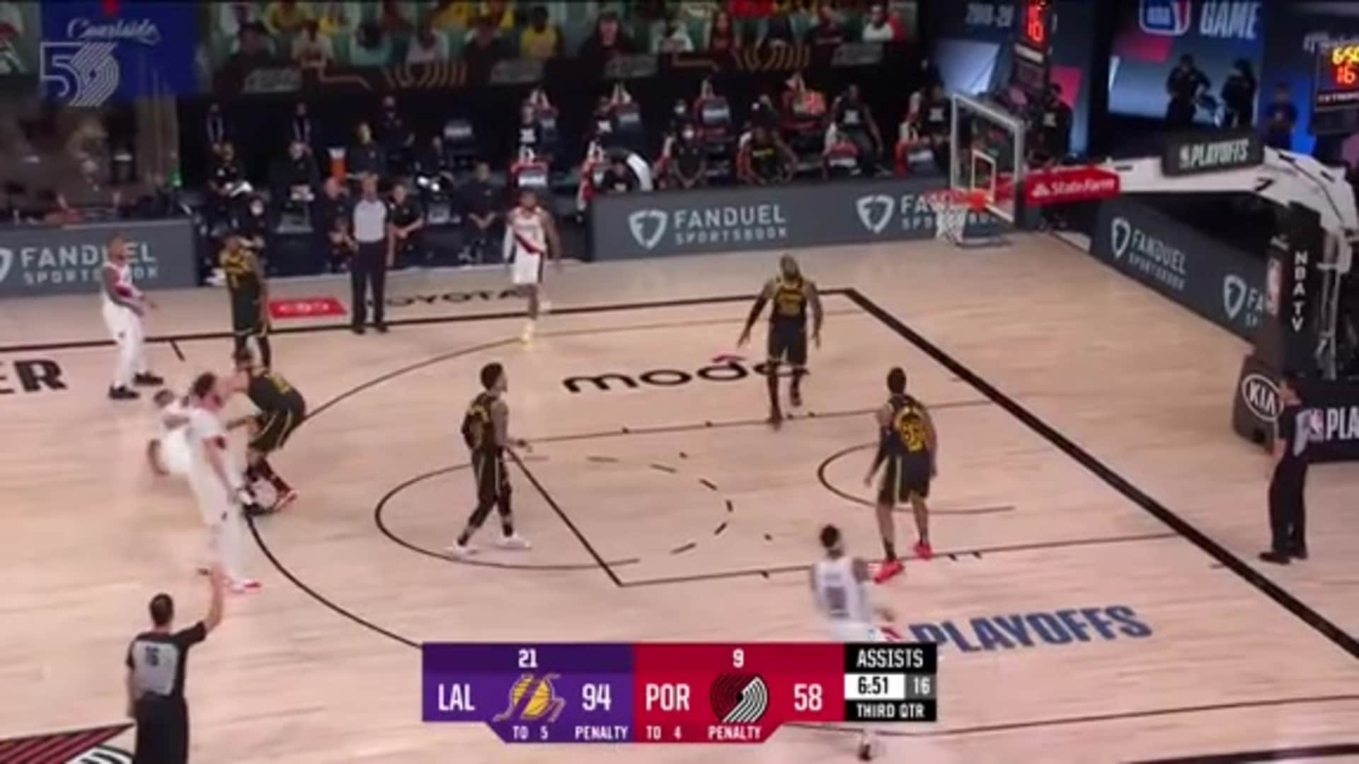 Portland 115, LA Lakers 135 | Game 4 Highlights by McDelivery