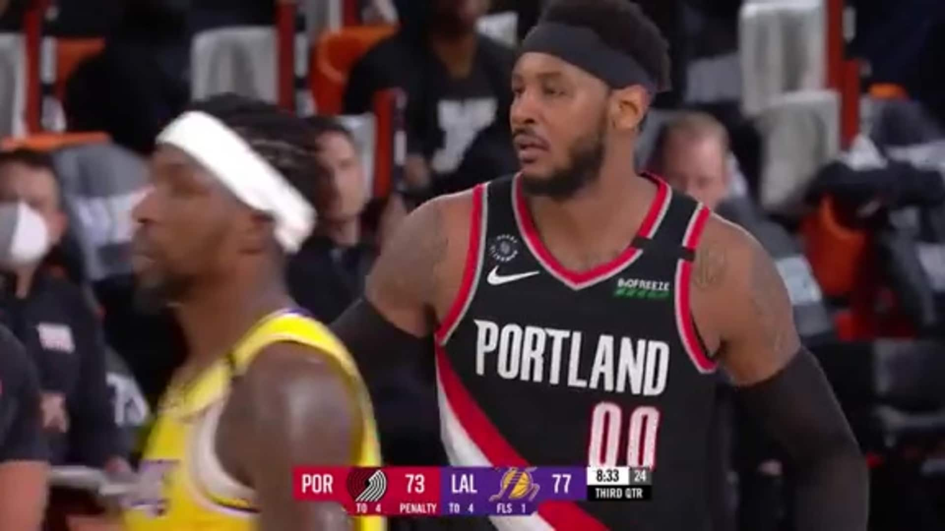 Carmelo Anthony (27 PTS, 7 REB) Highlights vs. Lakers