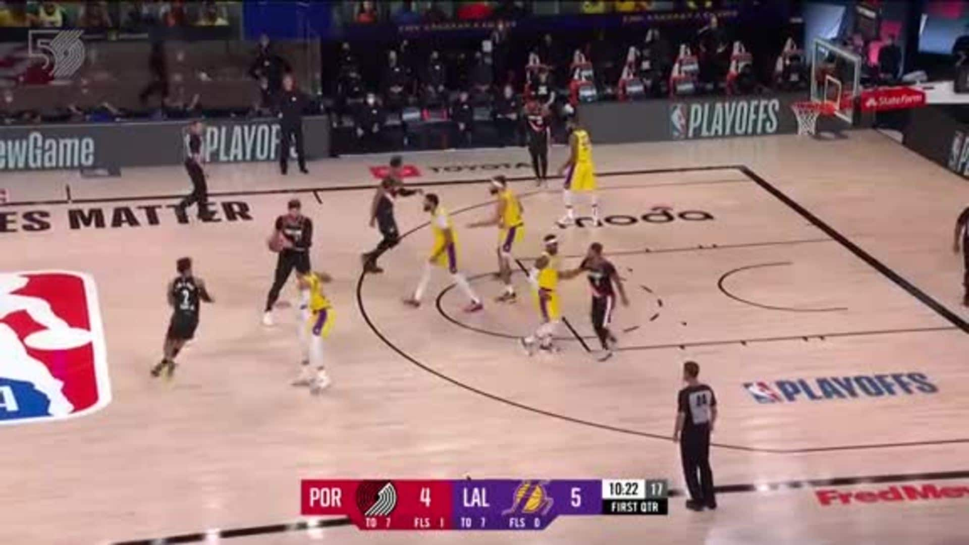 Portland 122, LA Lakers 131 | Game Highlights by McDelivery