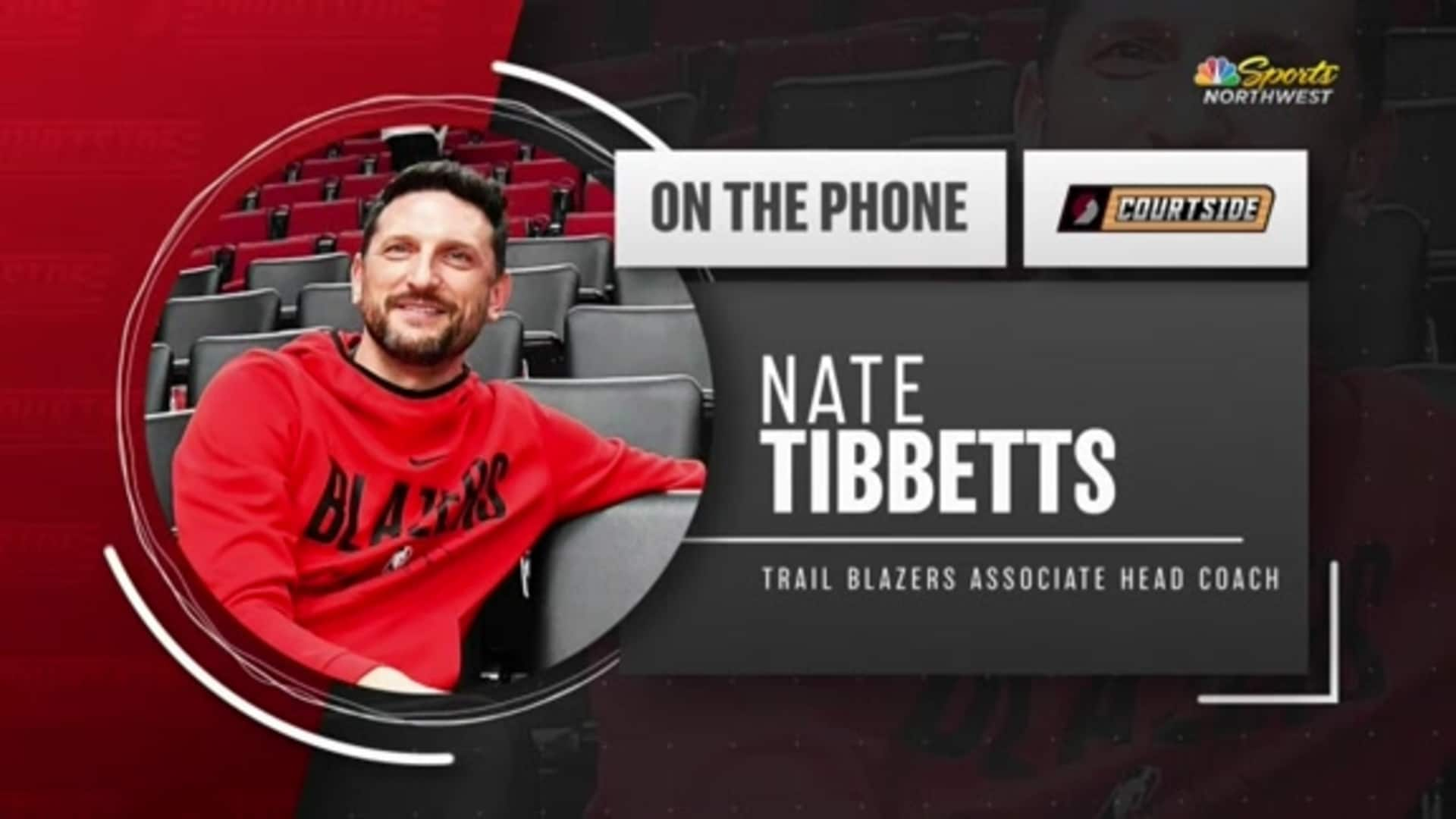 Nate Tibbetts Joins Trail Blazers Courtside