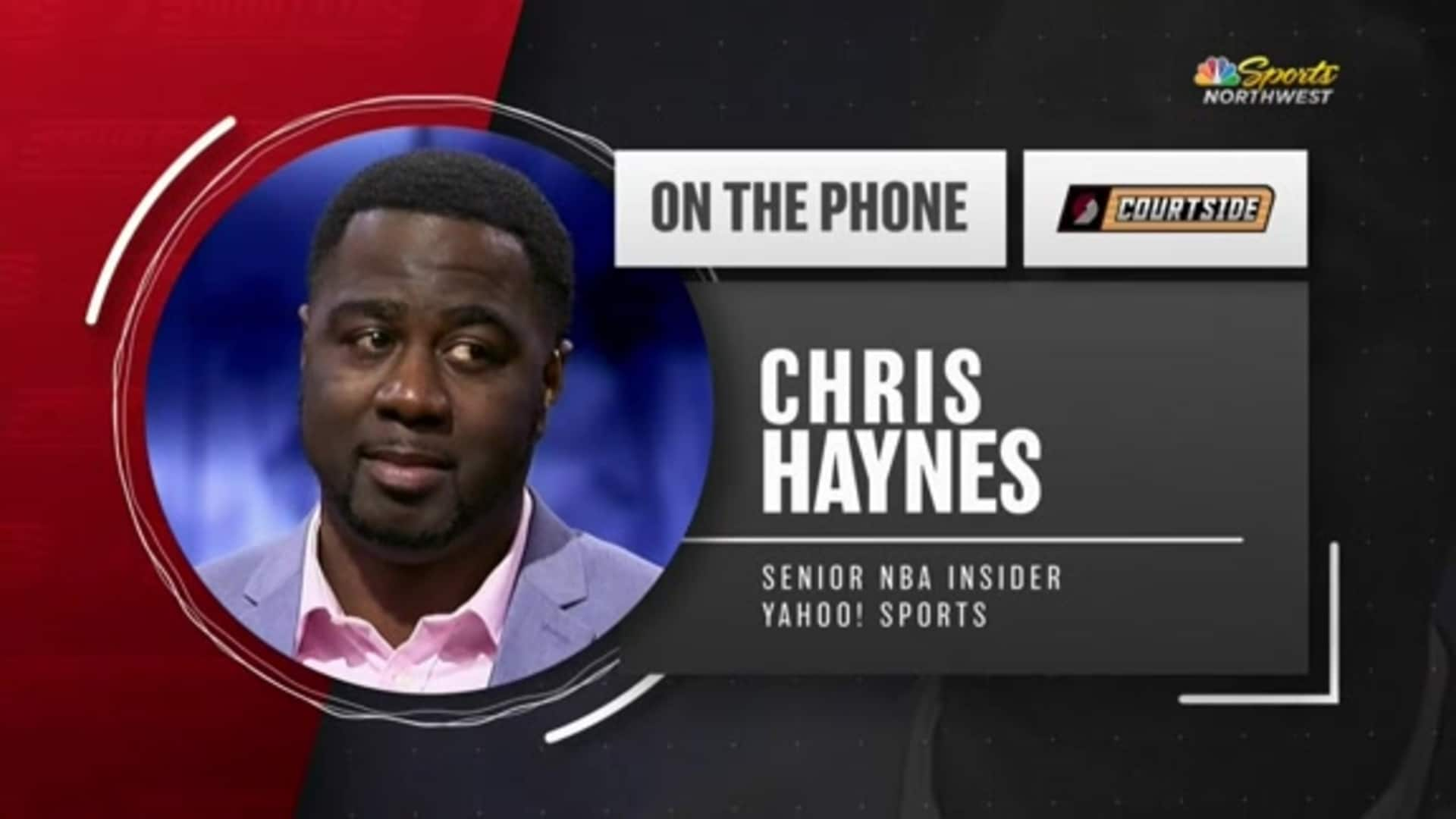 Chris Haynes Joins Trail Blazers Courtside