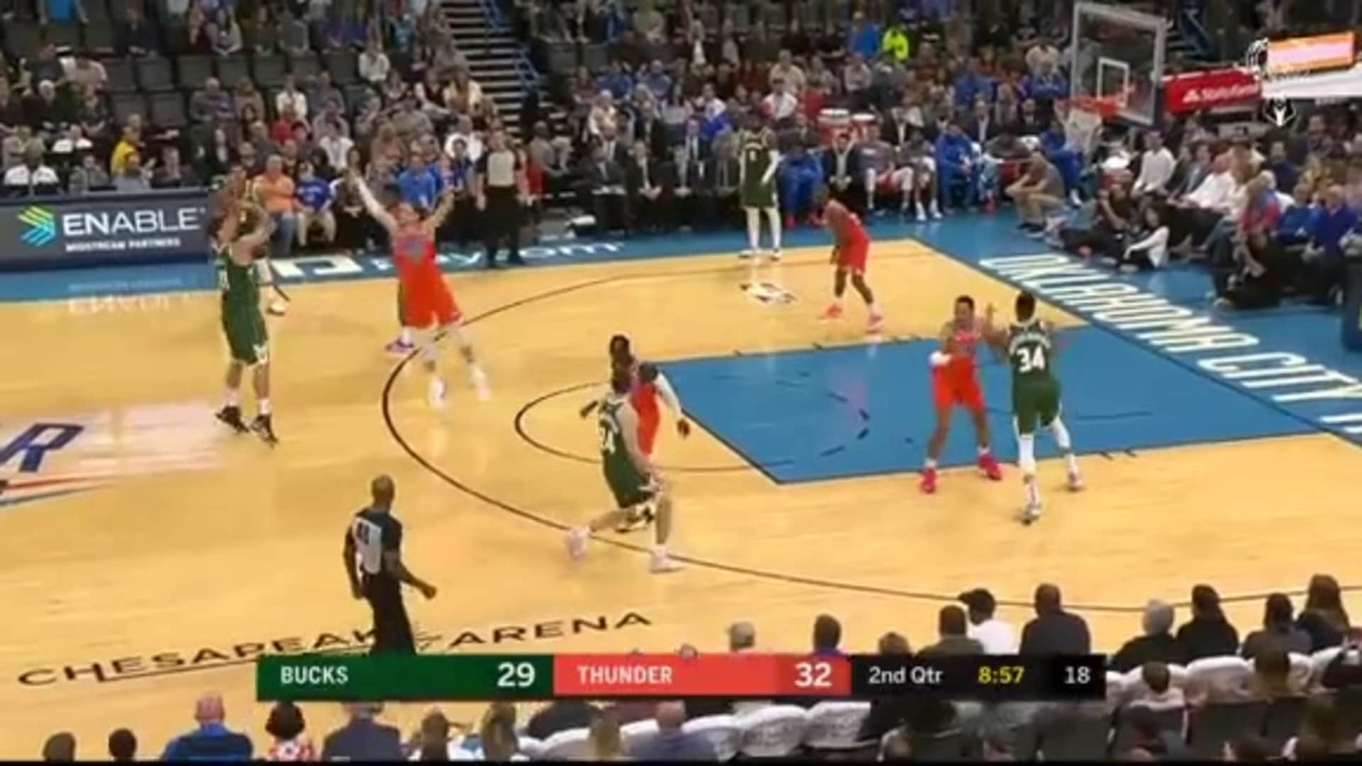 Game Highlights: Bucks 121 - Thunder 119 | 11.10.19
