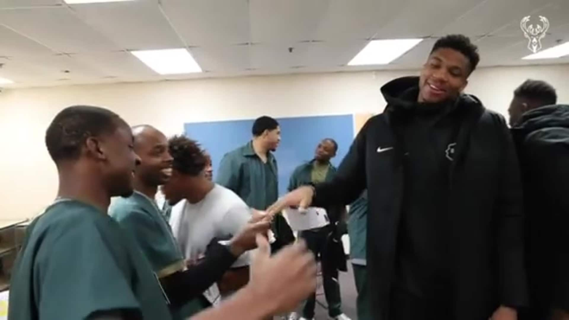 Giannis & Thanasis Deliver Play For Justice Surprise