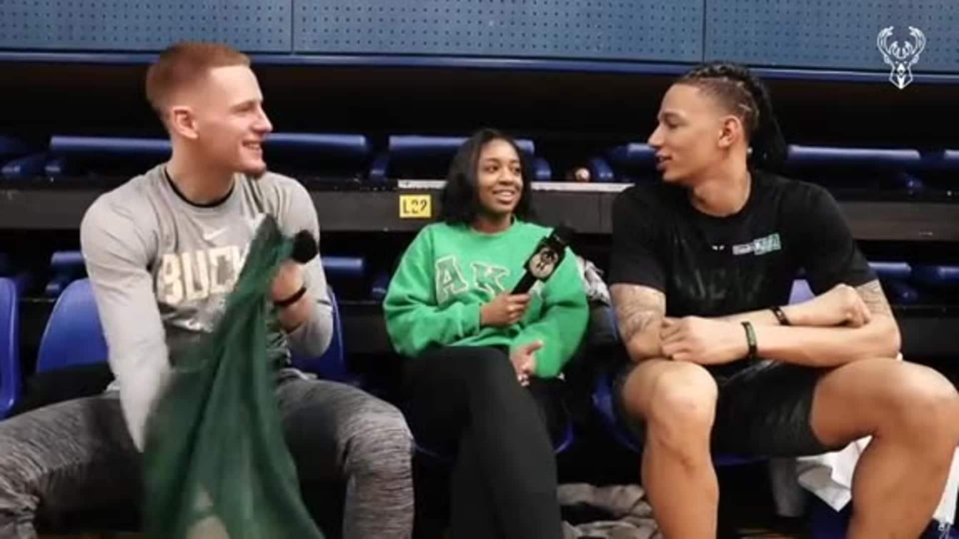 D.J. Wilson and Donte DiVincenzo Discuss Traveling to Paris