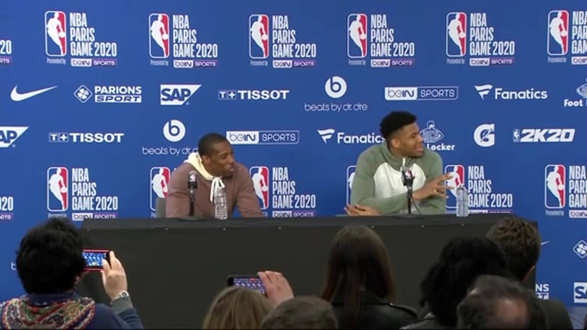 Giannis Antetokounmpo & Eric Bledsoe Postgame Press Conference | 1.24.20