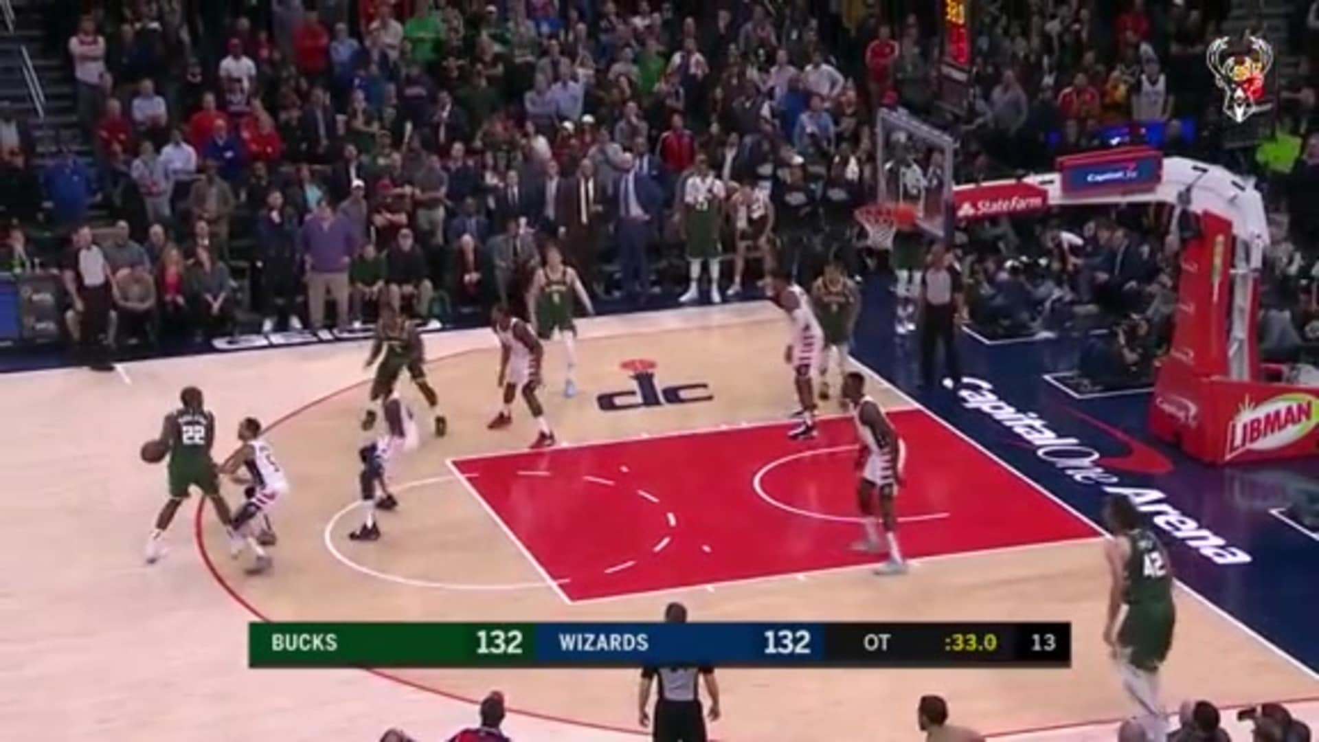 Game Highlights: Bucks 137 - Wizards 134 | 2.24.20