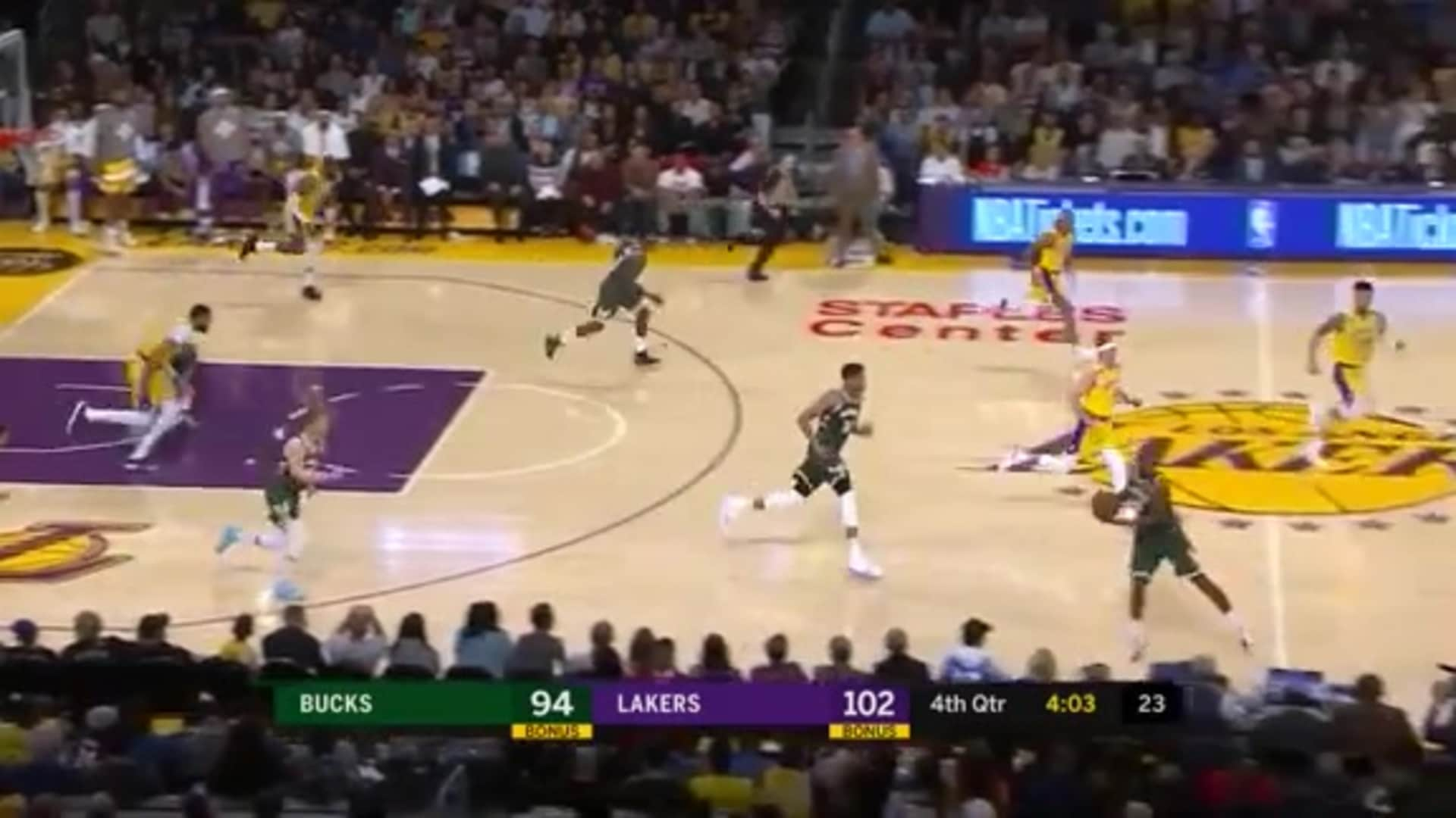 Game Highlights: Bucks 103 Vs. Lakers 113 | 3.6.20