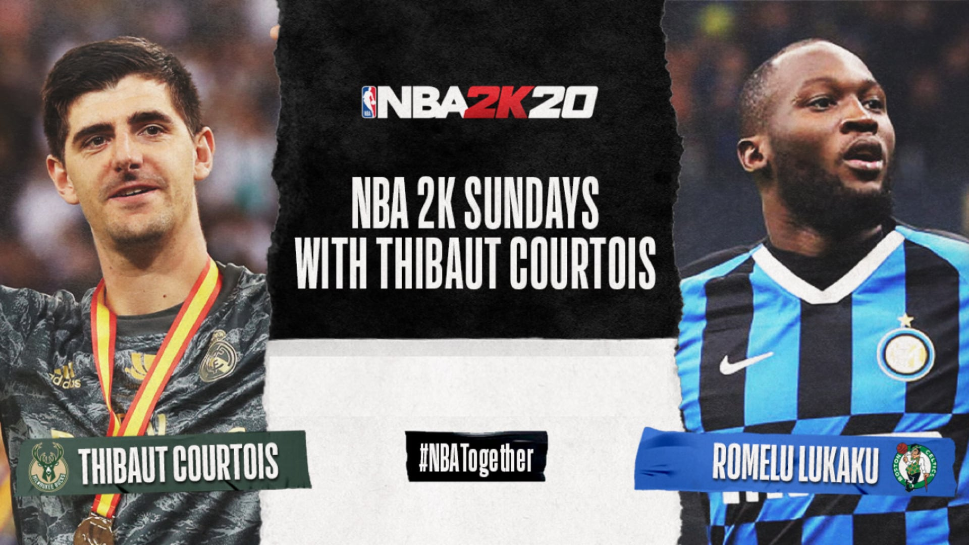 Thibaut Courtois vs. Romelu Lukaku | NBA2K Sundays: Bucks vs. Celtics | 4.5.20