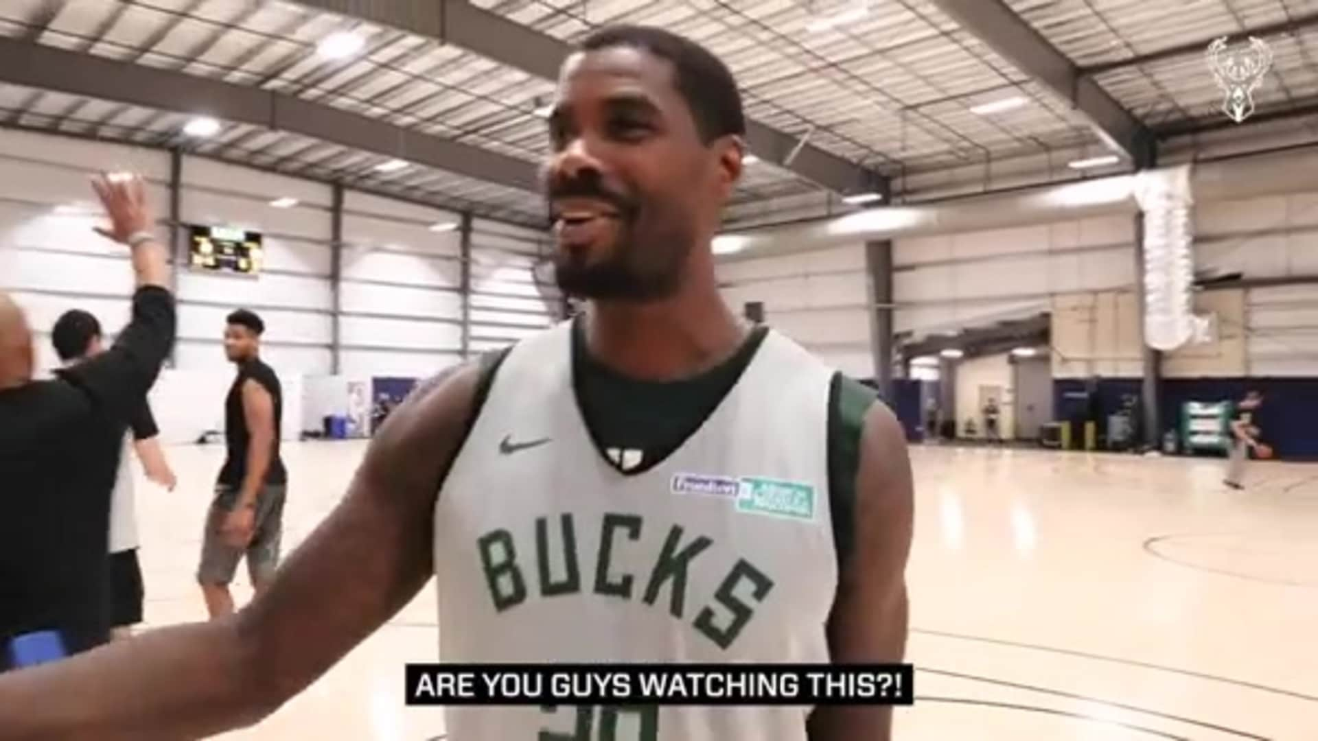 All-Access: Marvin Williams Wins Free Throw Contest