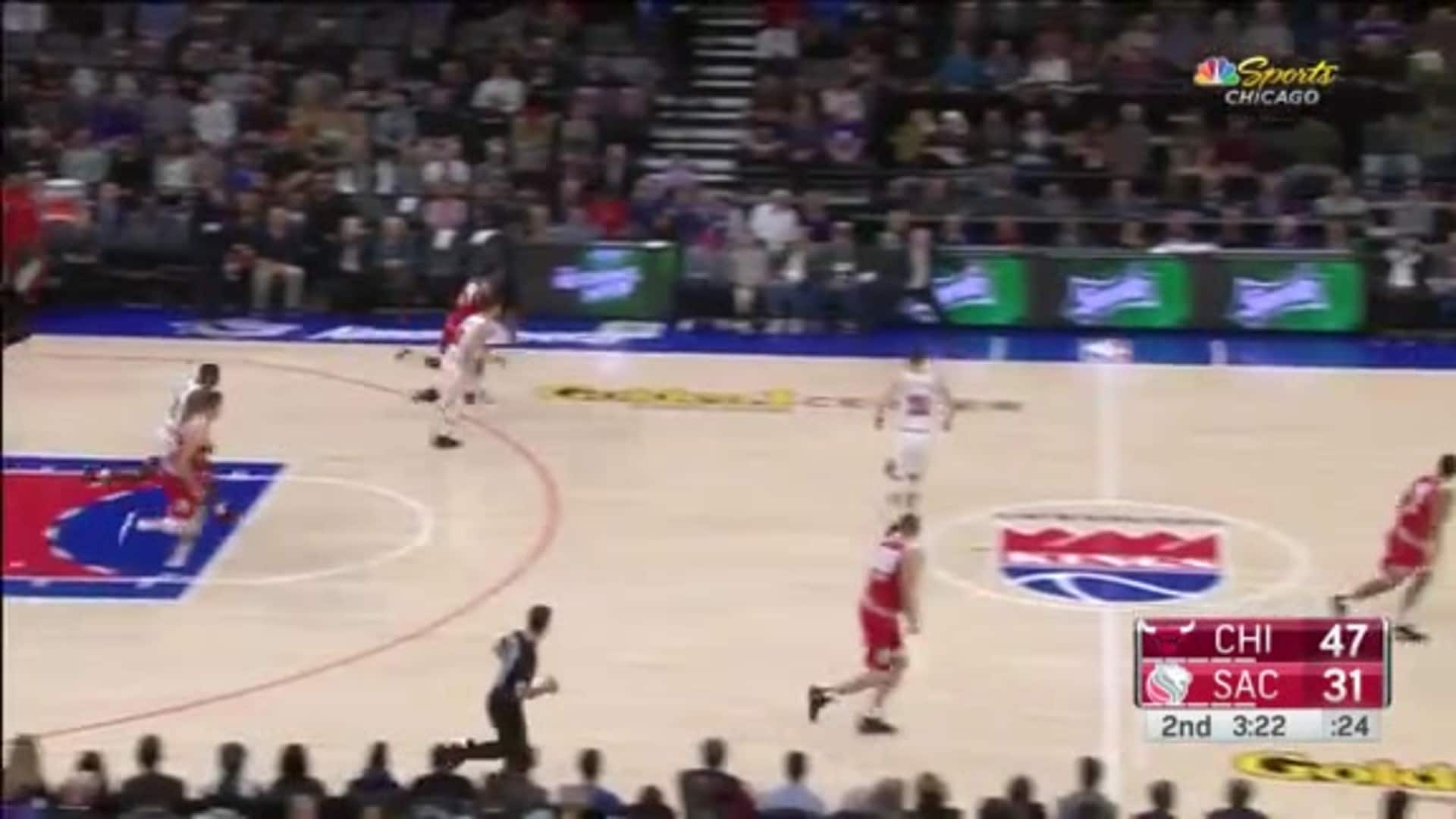 Sato to Dunn for a dunk