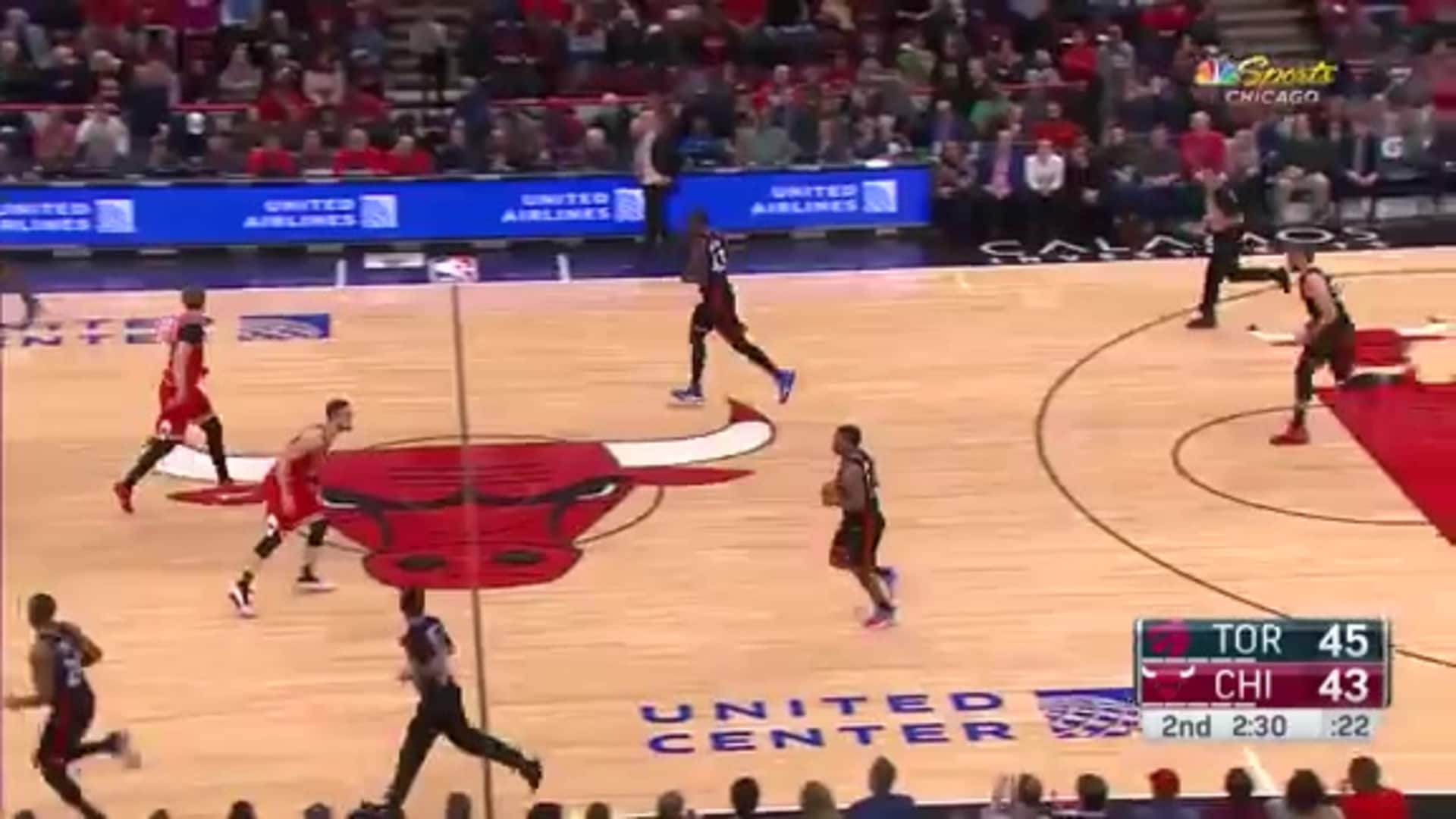 Lauri drives and dunk