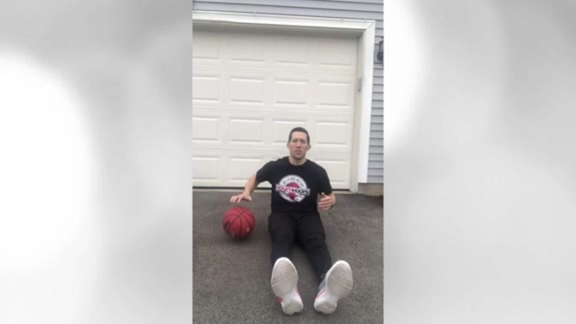 Youth Hoops Basketball Skills At Home: Sit Down Dribbles