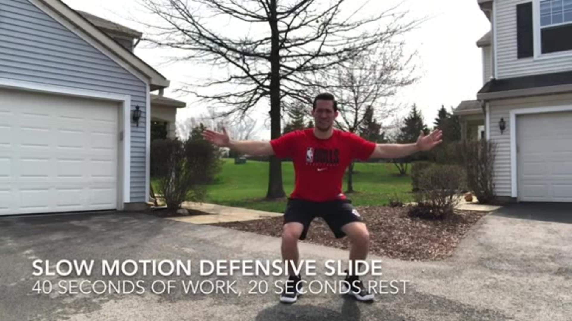 Youth Hoops Basketball Skills At Home: Defensive Workout