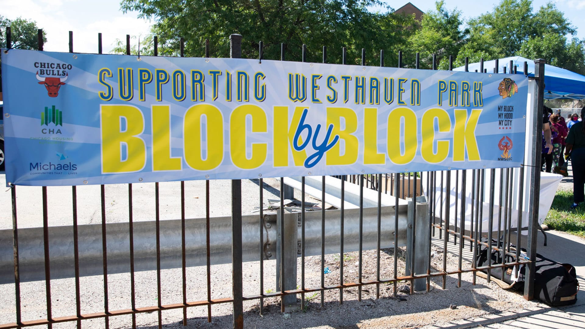 "Bulls and Blackhawks Partner with My Block My Hood My City to Launch ""Supporting Westhaven Park: Block by Block"" Program"