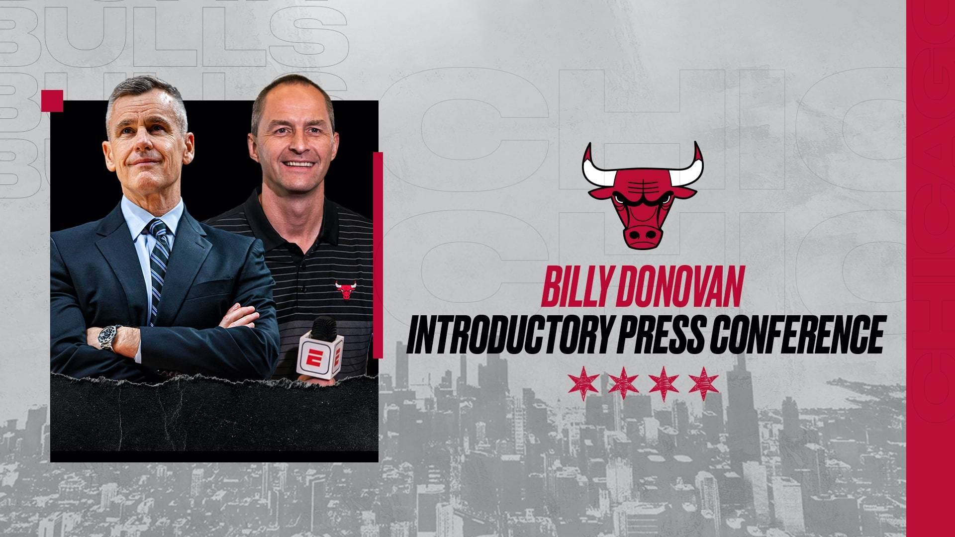 Bulls introduce Head Coach Billy Donovan