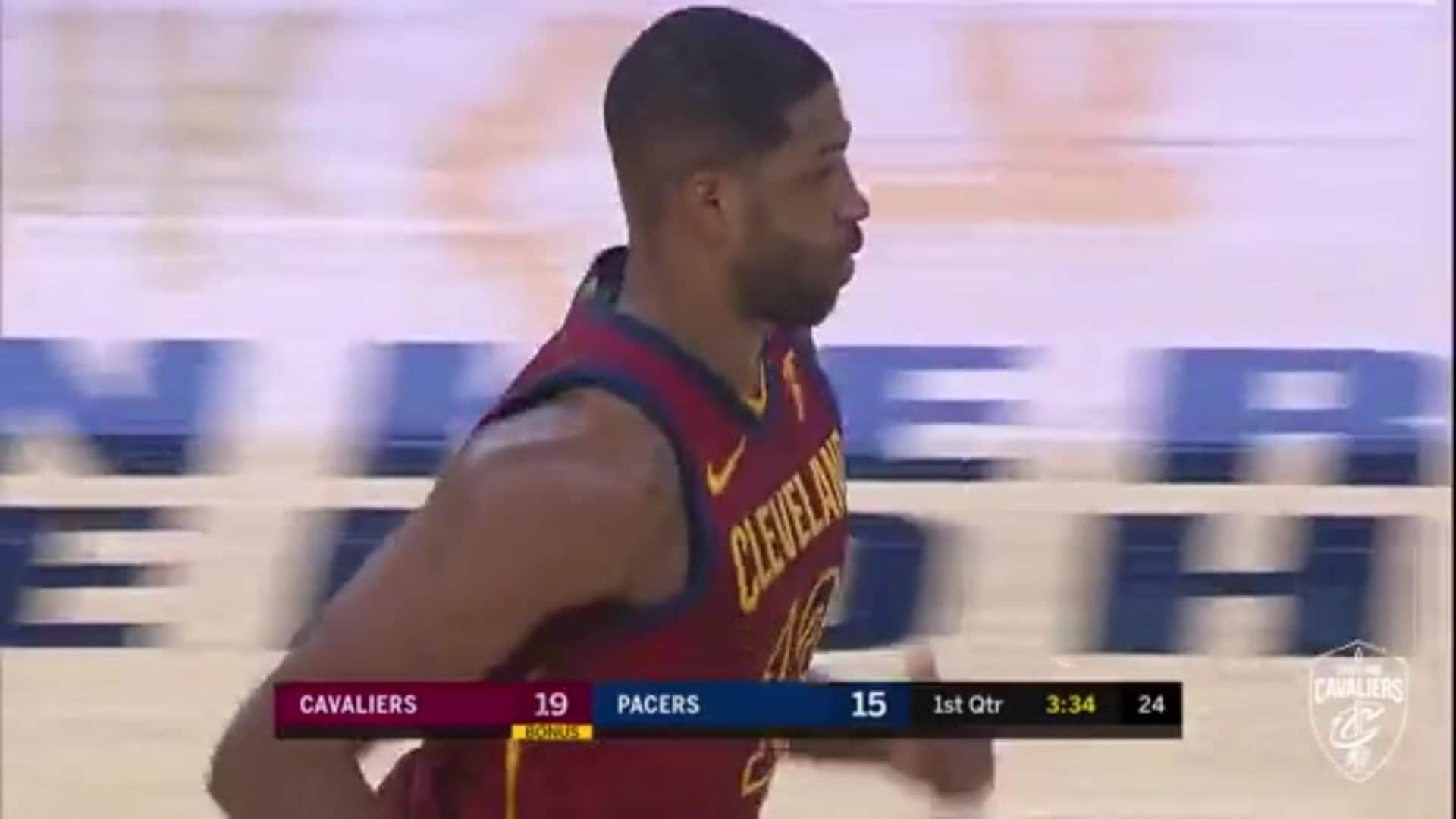 Tristan Thompson with the Flush