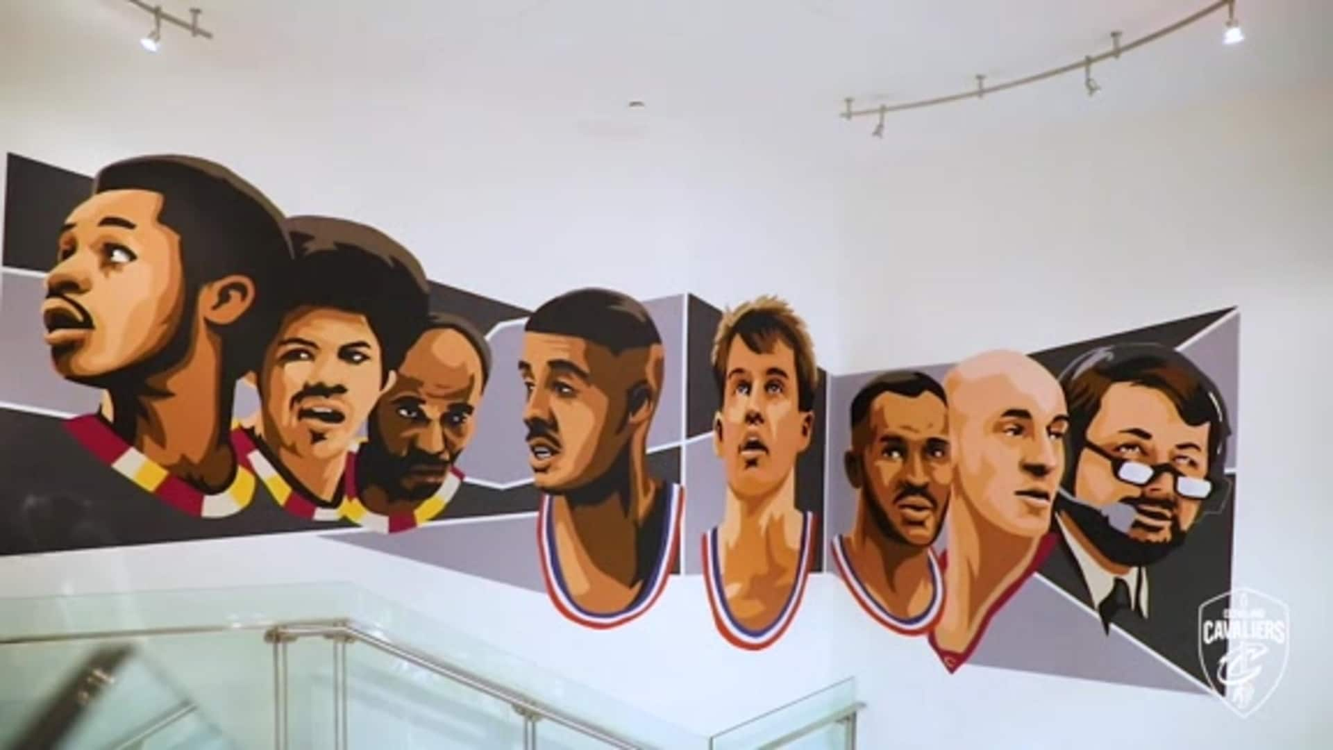 Artists Complete Cavs Legends Mural at Rocket Mortgage FieldHouse