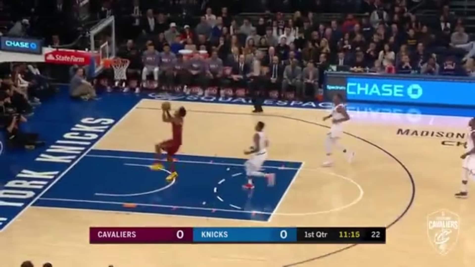Garland Picks Off Pass, Finds Sexton on Fast Break
