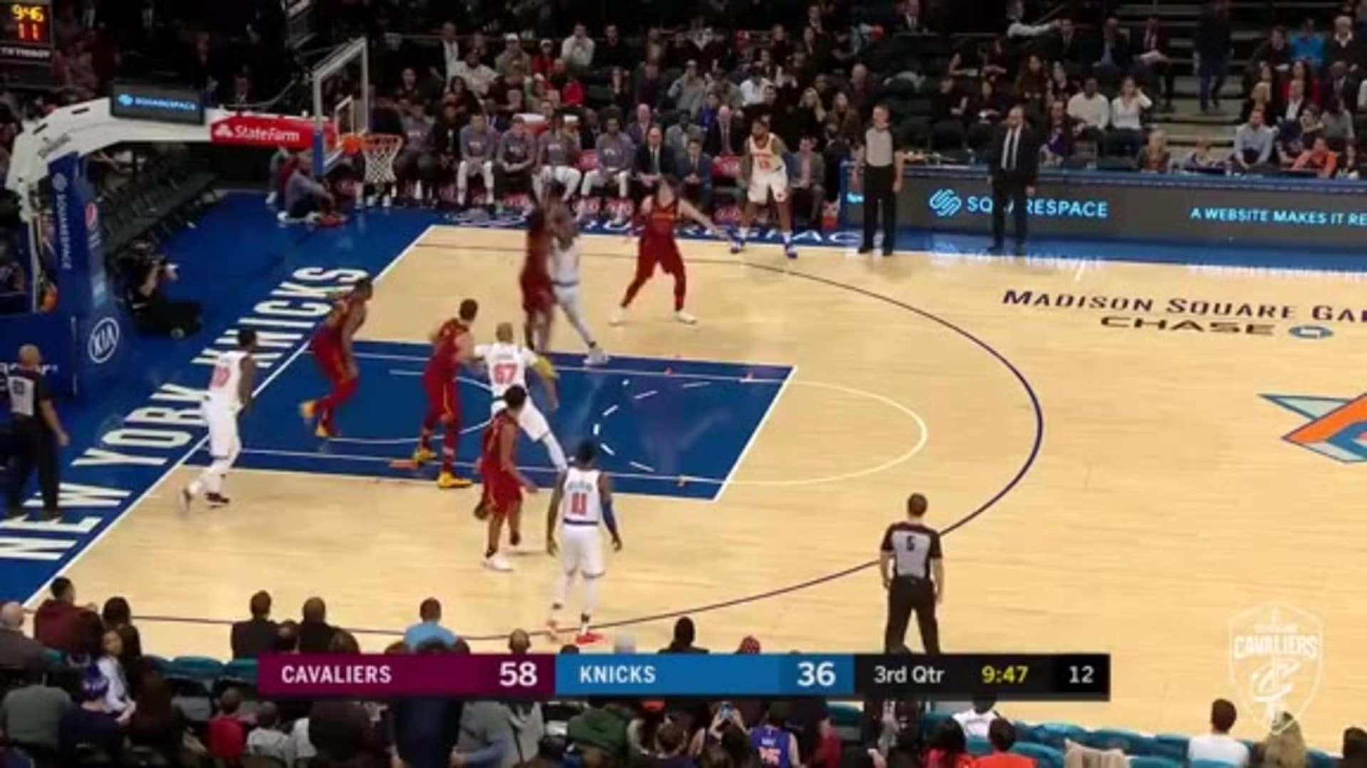 Tristan Thompson with the REJECTION