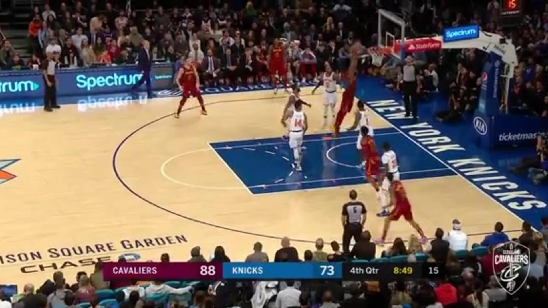 Tristan Two-Hands the Rim in the Fourth