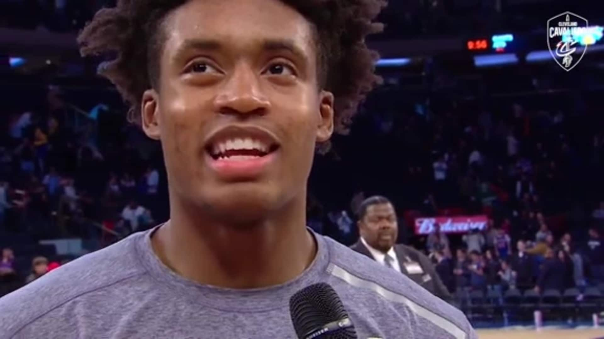 Cavs at Knicks On-Court Postgame: Collin Sexton