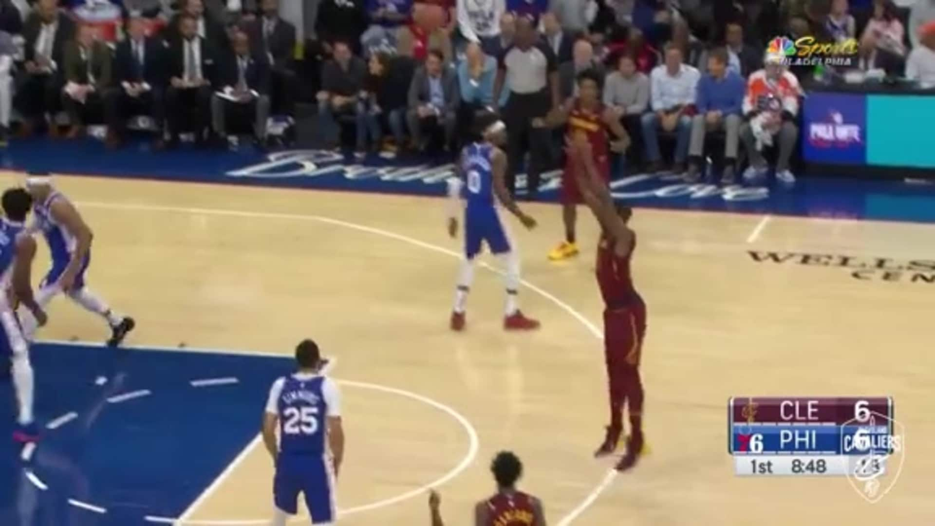 Tristan Thompson Cans the Open Three