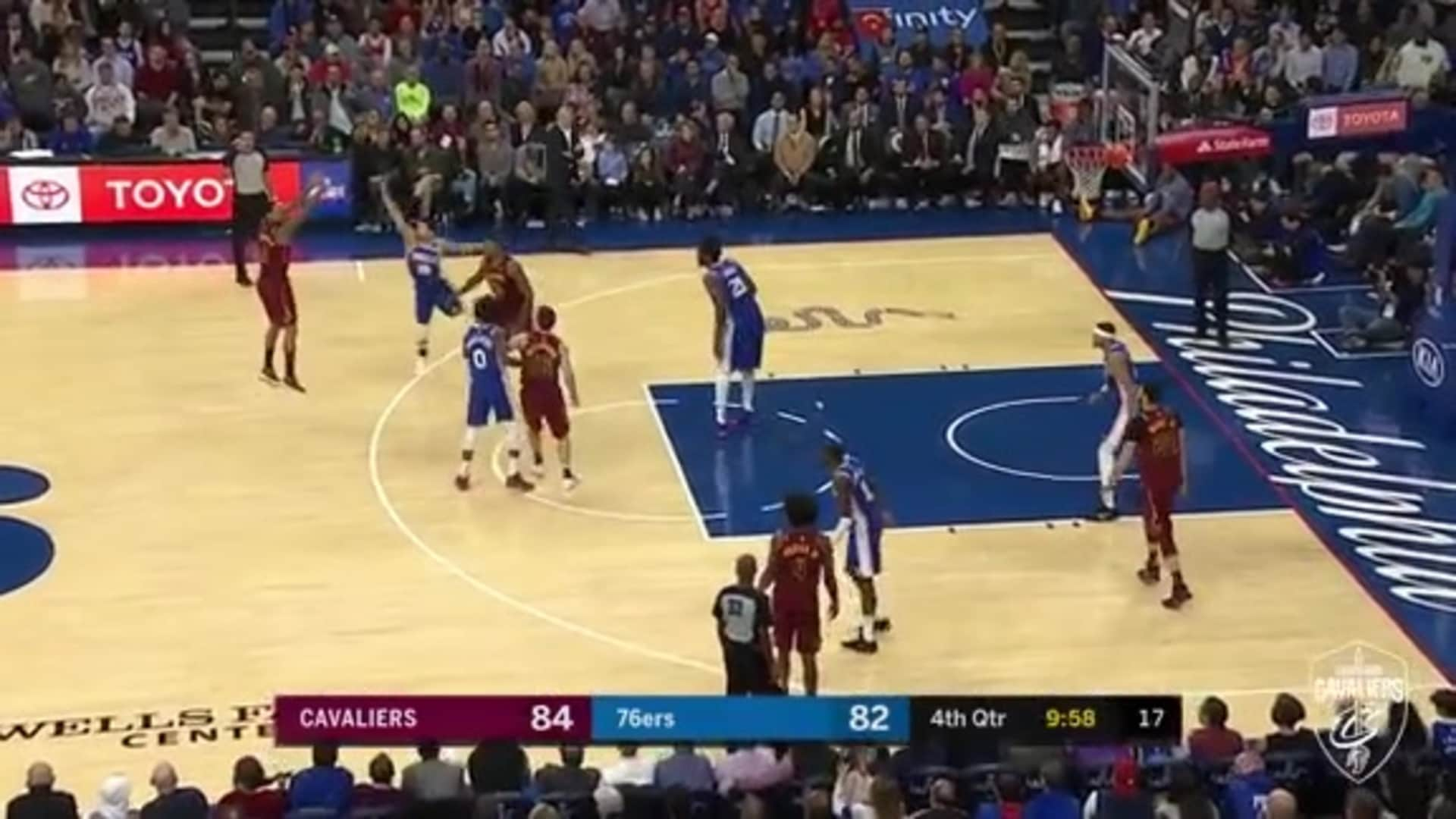Clarkson Drills Three to Put Cavs Up Five