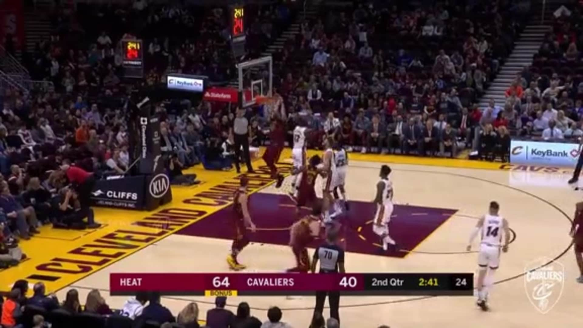 Larry Nance, Jr. Cleans Up the Miss with a Putback Slam