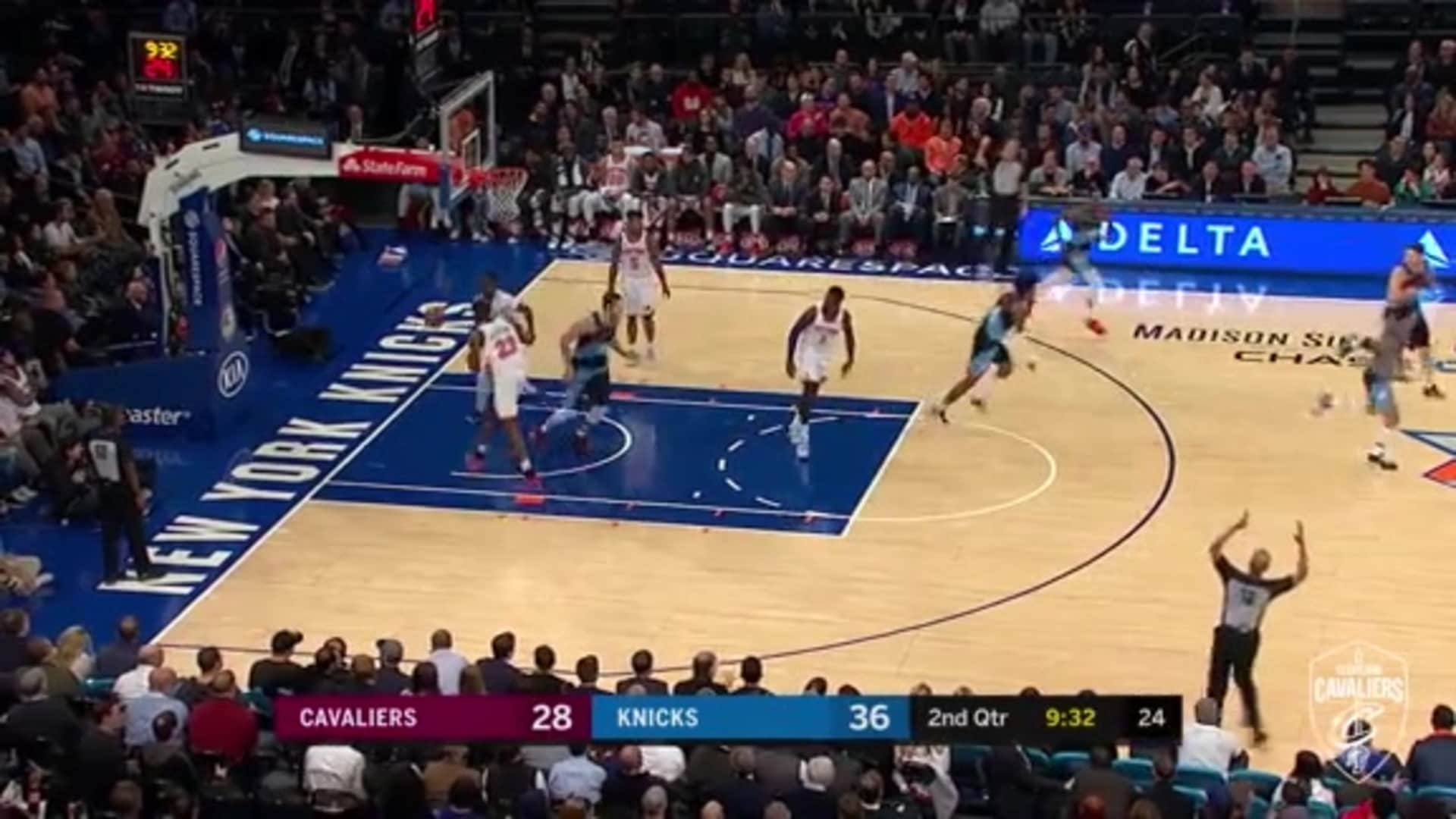 Cavs Can 4 Threes Over 5 Possessions to Cut into Knicks Lead