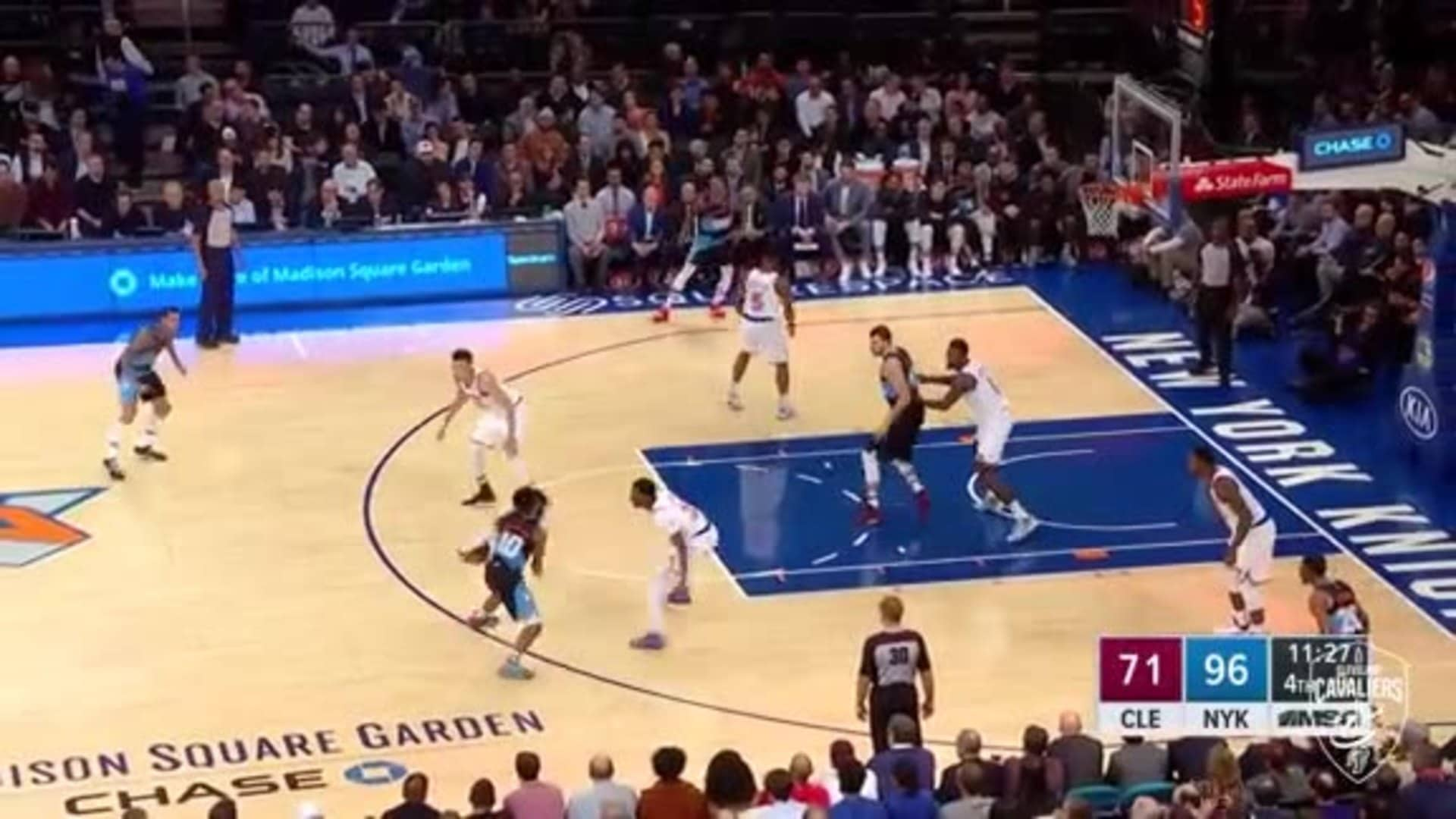 Which Way Did He Go? Garland Puts On a Series of Moves to Get a Basket