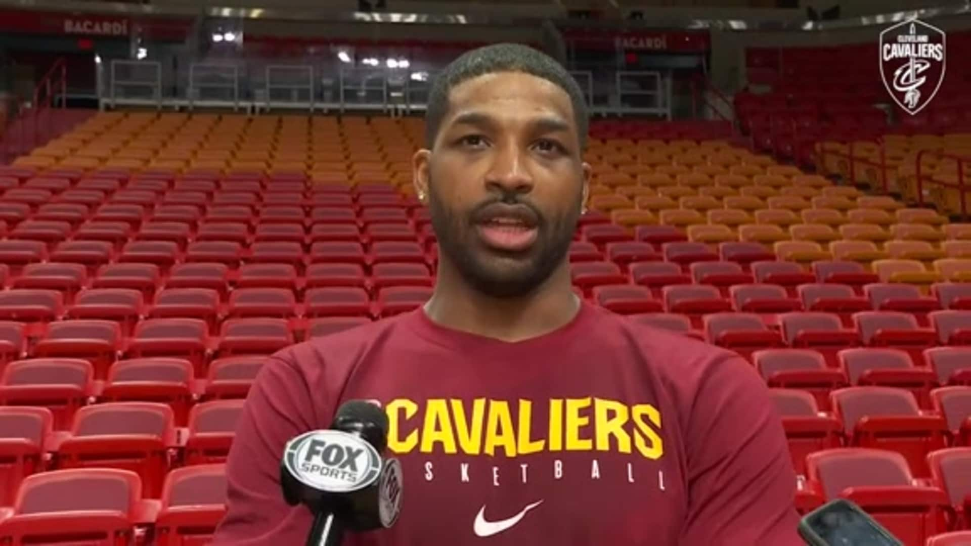 Cavs at Mavs Practice: Tristan Thompson