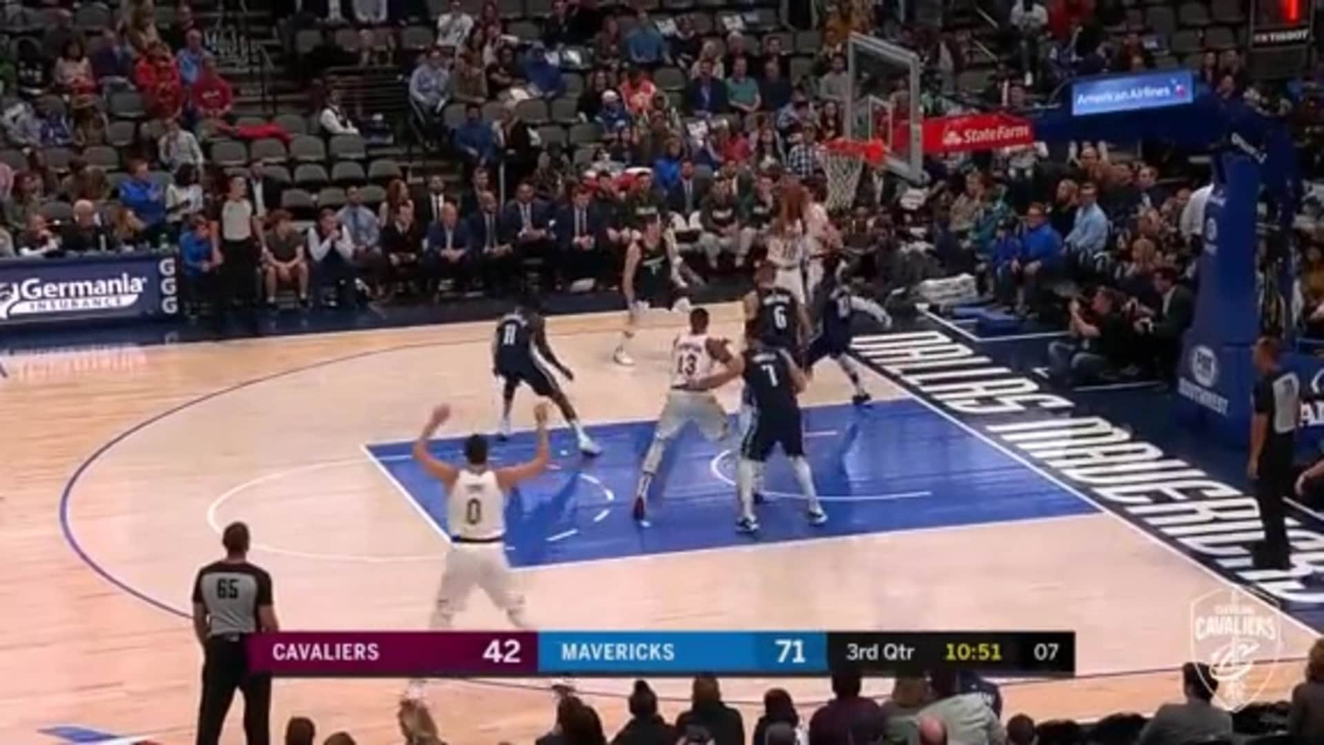 Garland Hits the Rainbow Shot in the Third