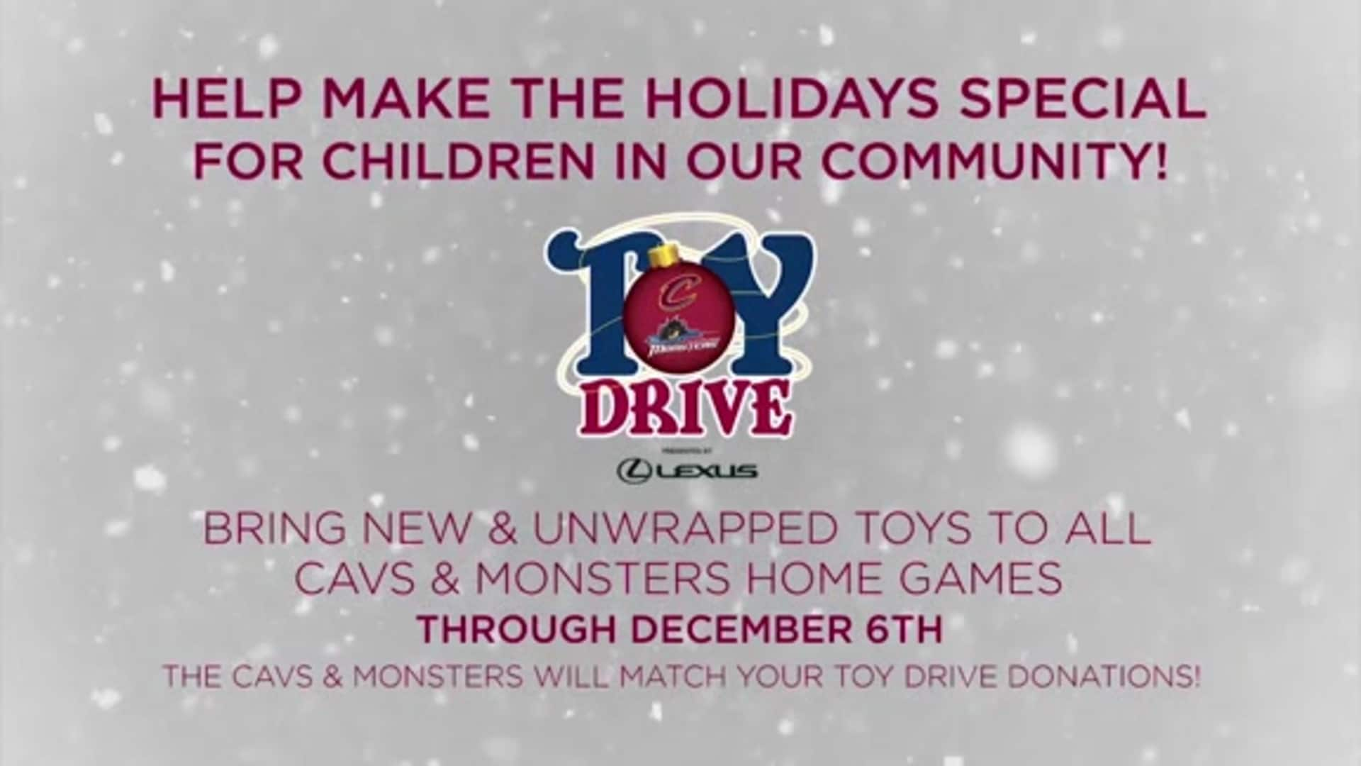 Donate New and Unwrapped Toys Beginning Tonight