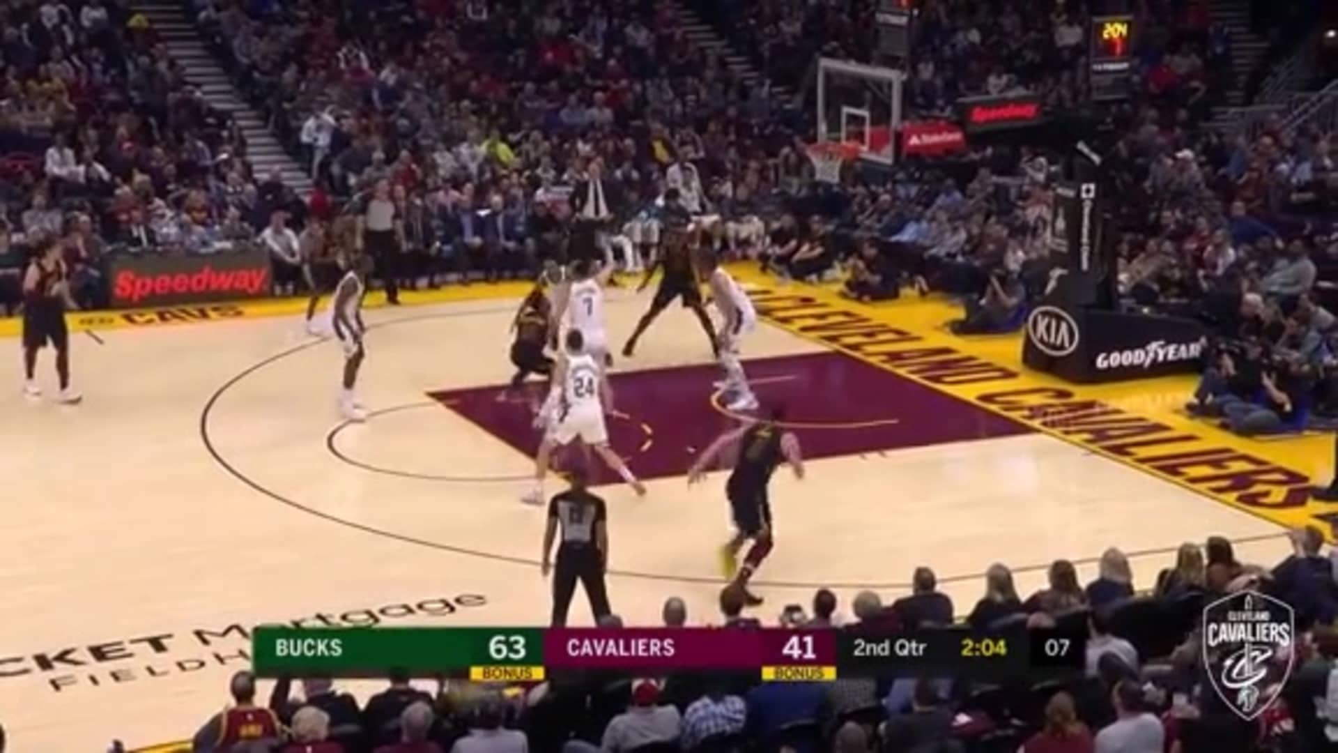 T.T. Throws Down His Third Big Dunk of the Night