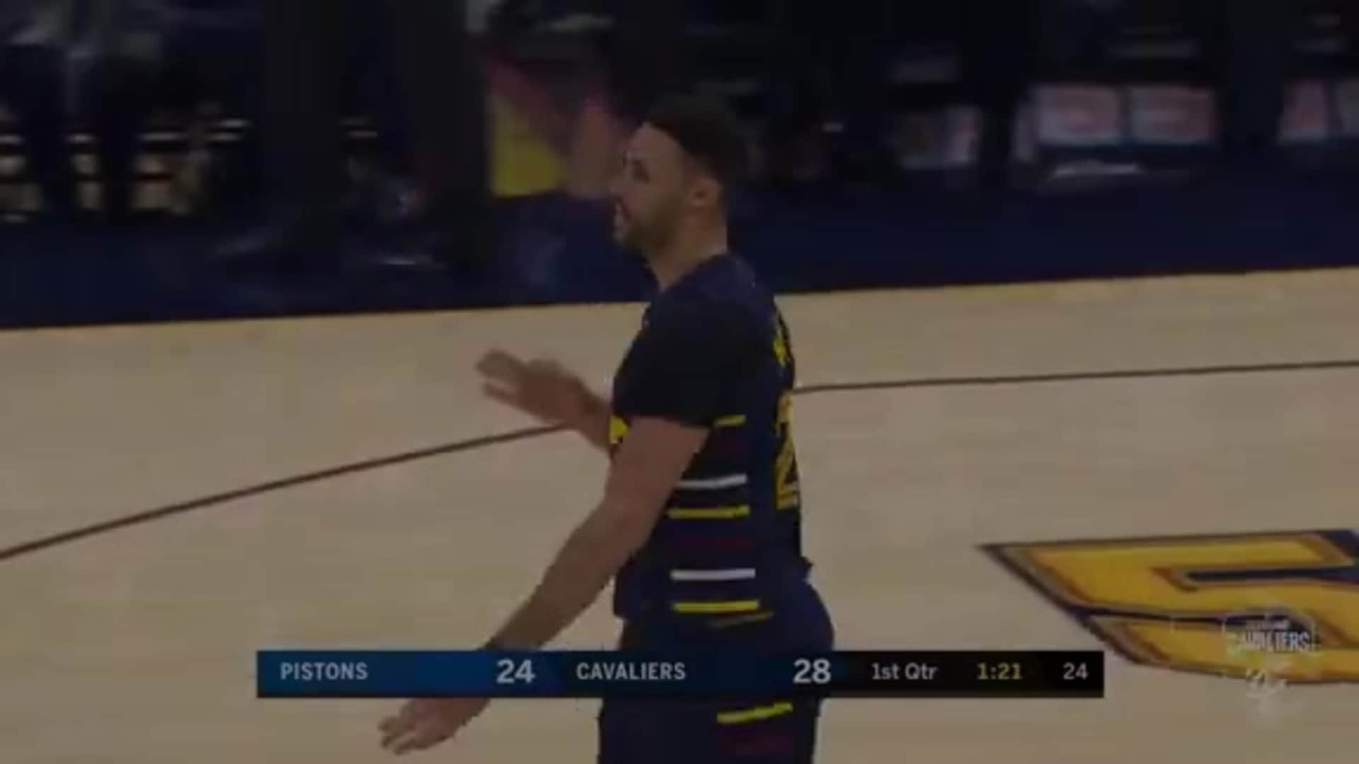 Sexton Goes Behind-the-Back to Assist on a Nance, Jr. Three