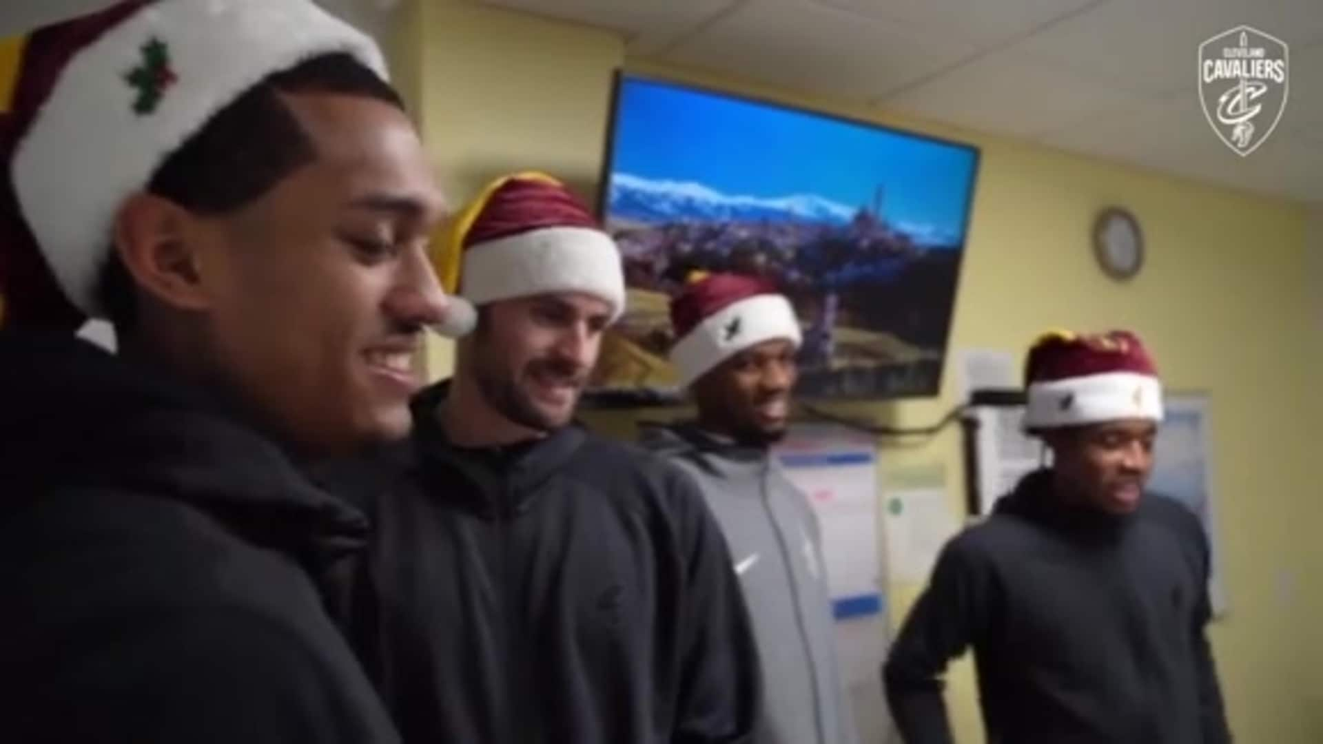 Cavs Players Provide Company for Patients