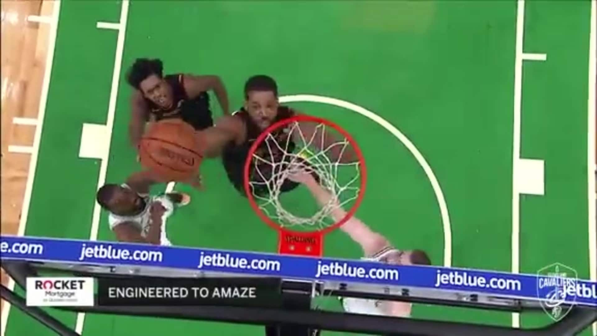 T-Top with His Second Big Dunk of the Night