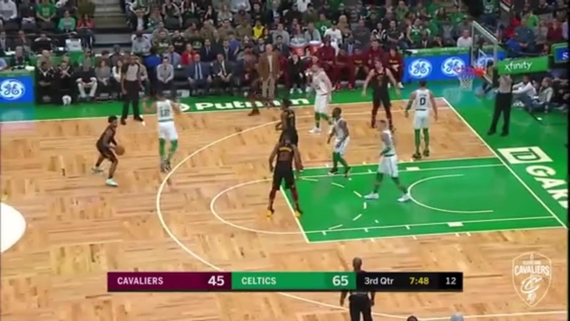 Garland Steps and Fakes Out C's for Three
