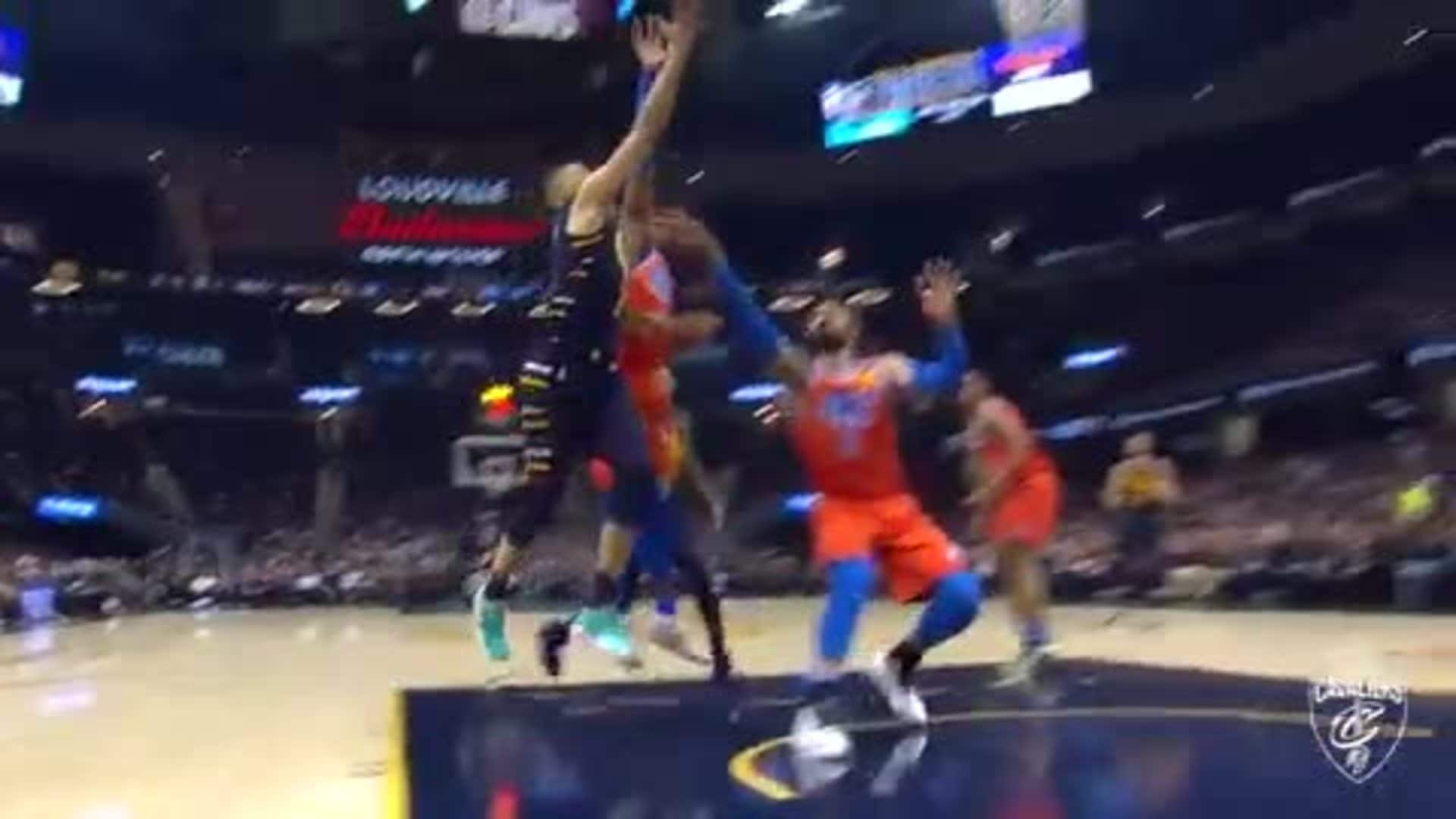 Exum Makes and Incredible Shot En Route to the Basket