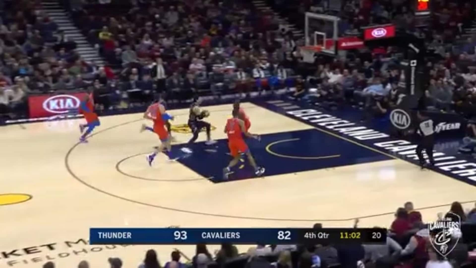 Cedi Cans Back-to-Back Three Pointers
