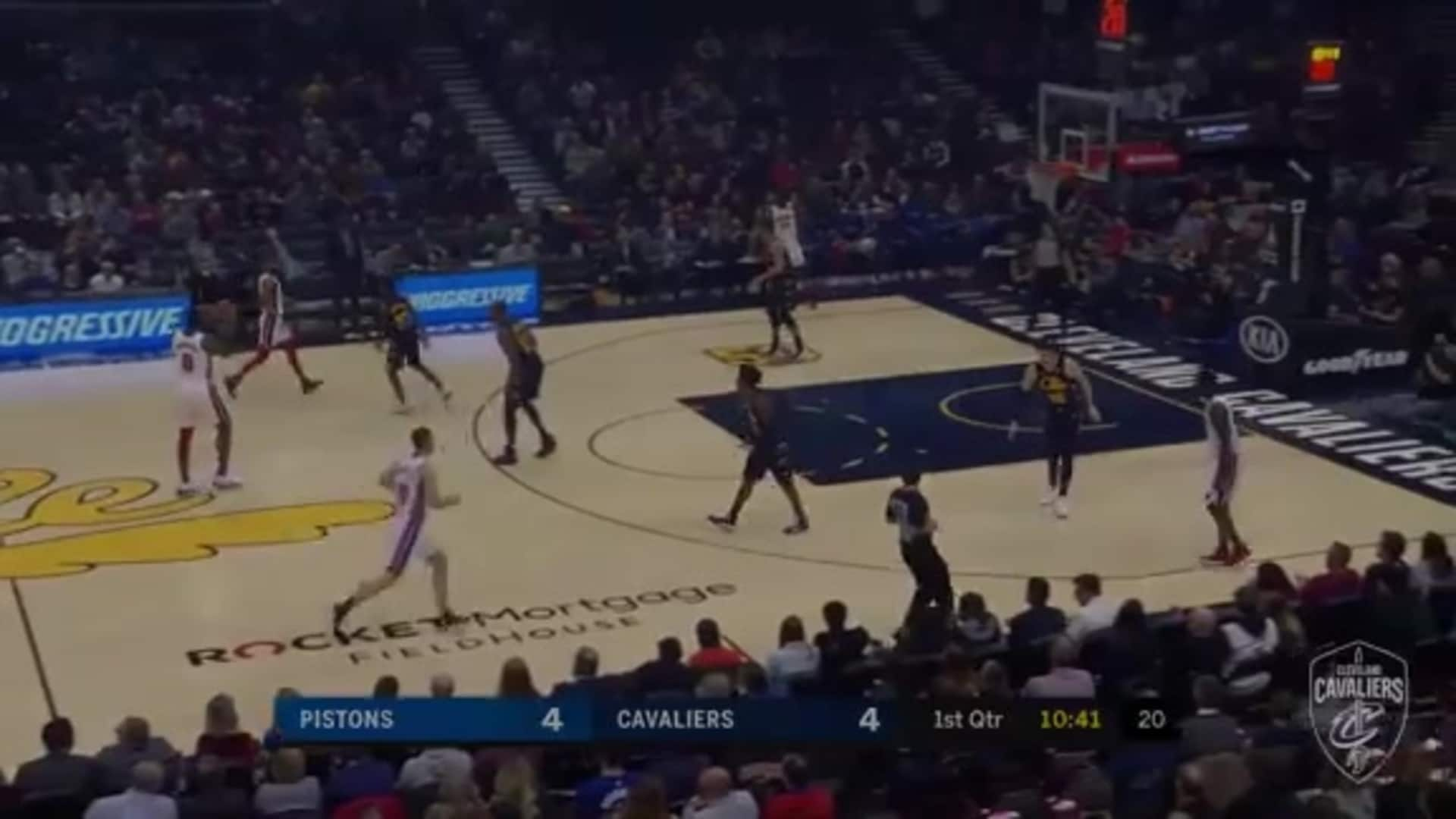 Young Bull Throws Up the No-Look Shot