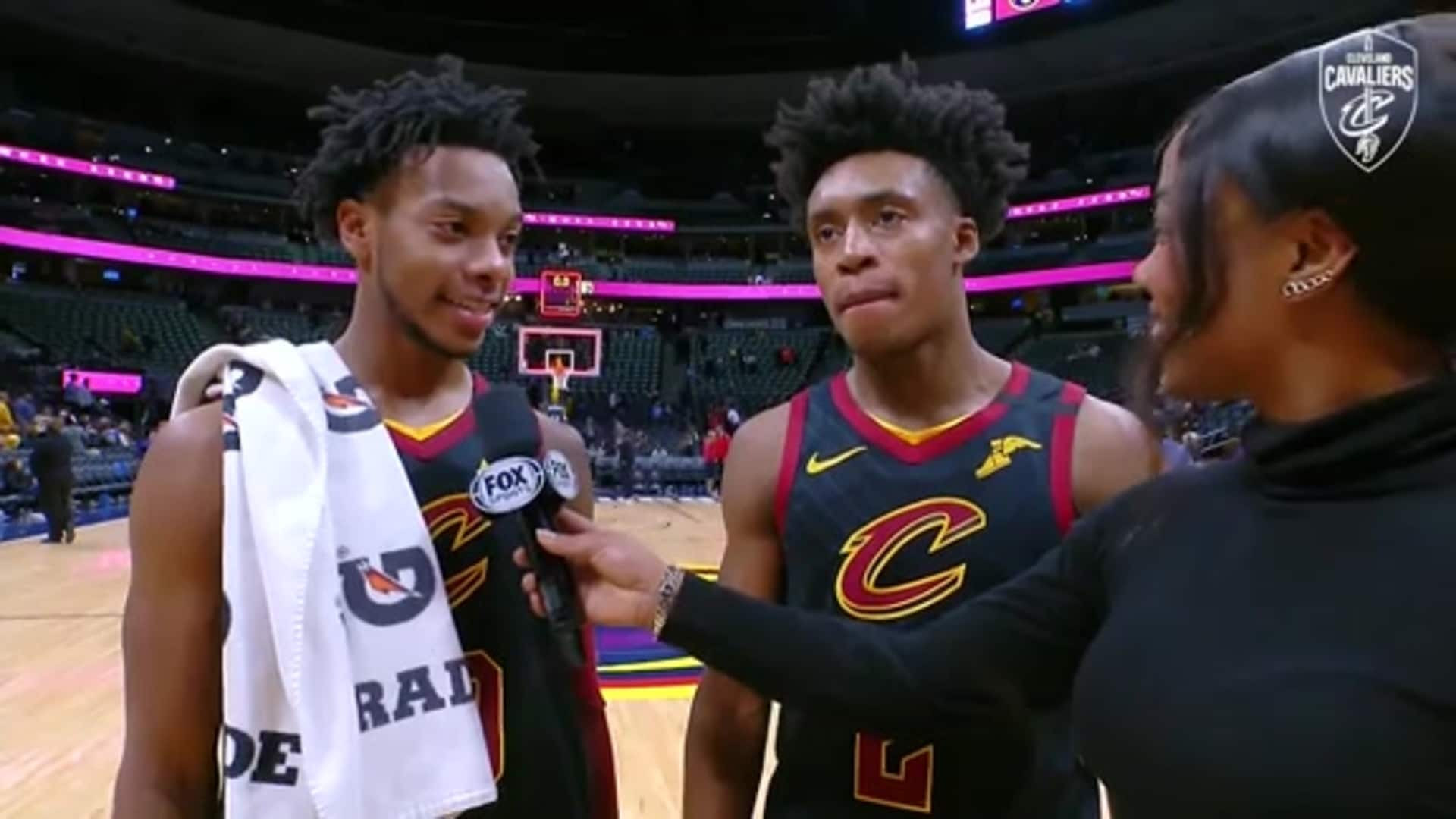 Cavs at Nuggets On-Court Postgame: Collin Sexton and Darius Garland