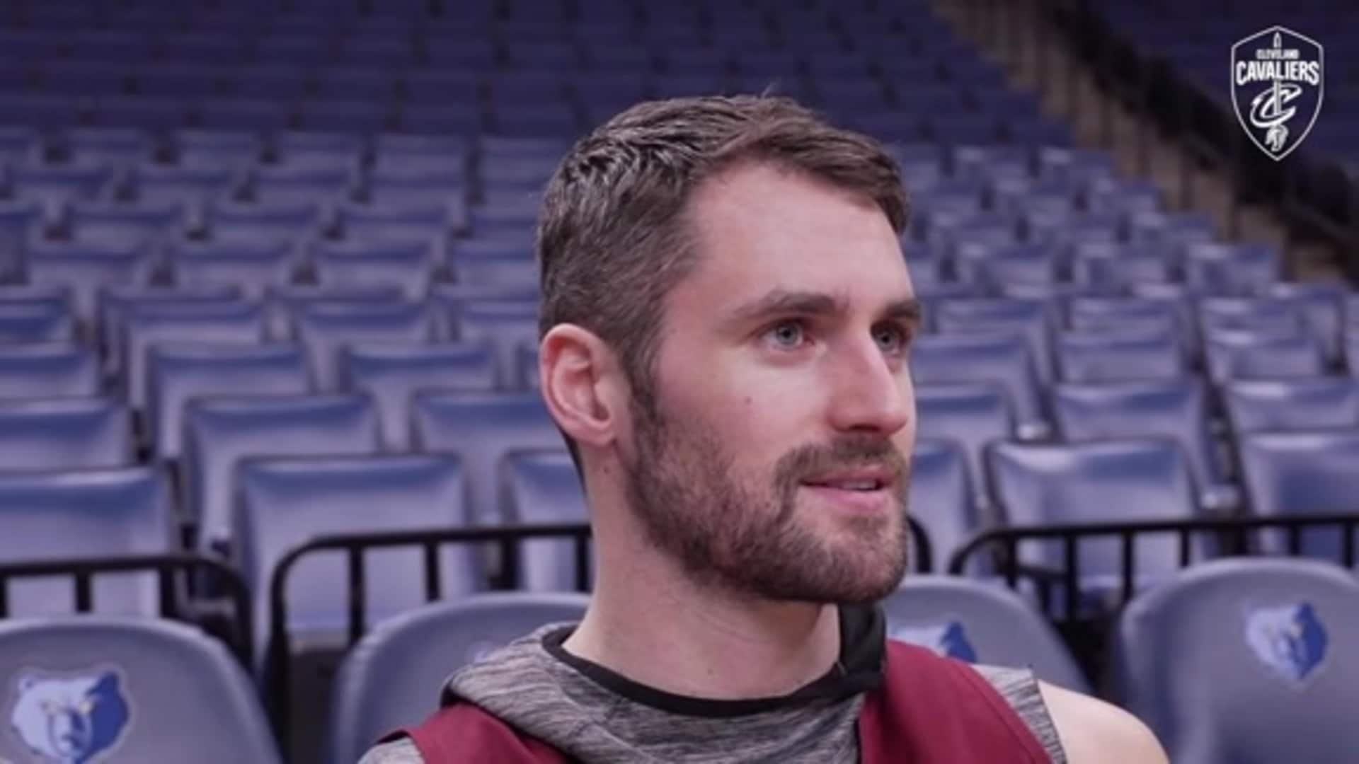 Cavs at Grizzlies Shootaround: Kevin Love